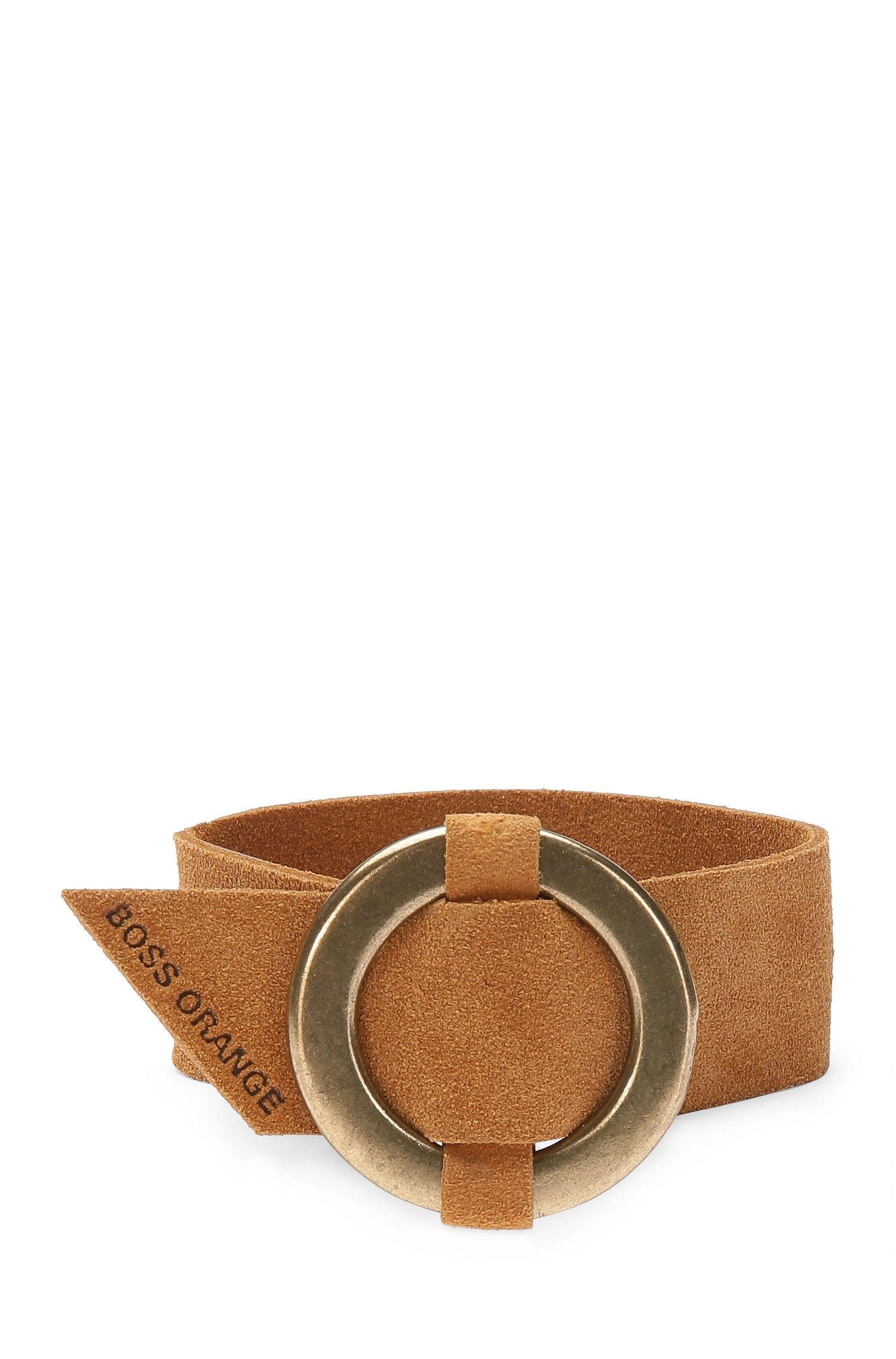 Suede bracelet with zinc buckle: 'Moring'