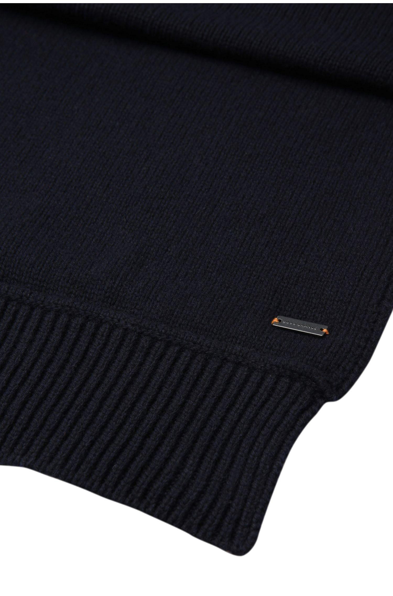 Écharpe en maille unie en laine mélangée à teneur en coton: «Kapon»