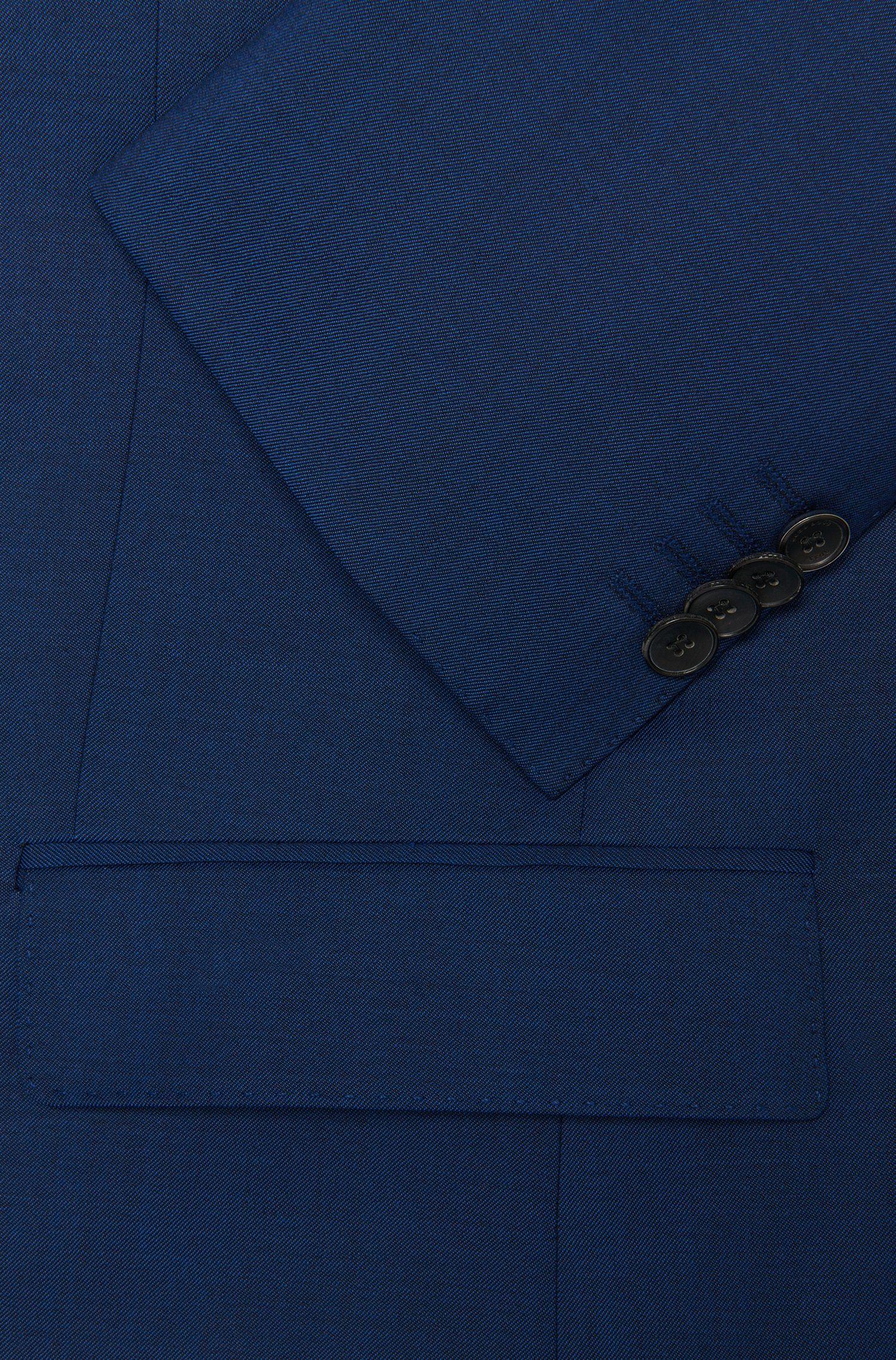 Costume Slim Fit en laine vierge, de couleur intense: «Huge4/Genius3»