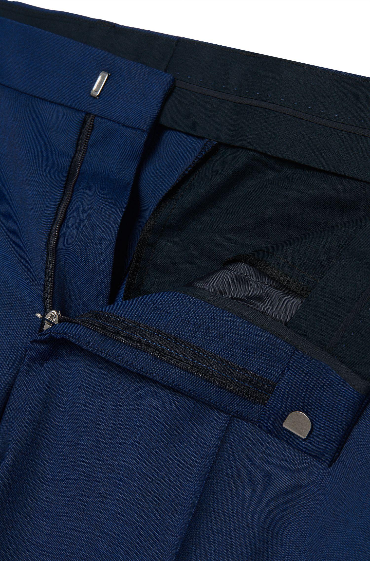 Slim-Fit Anzug aus Schurwolle im farbintensiven Dessin: 'Huge4/Genius3'