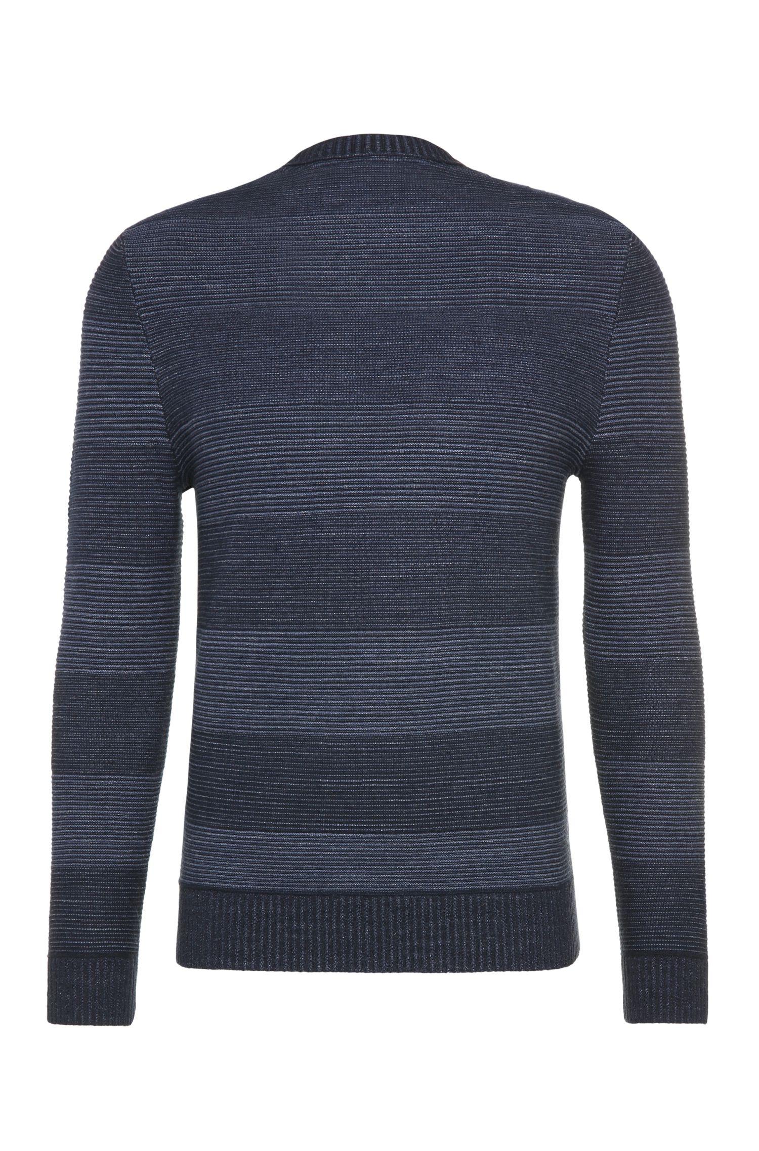 Gestreifter Slim-Fit Pullover aus Baumwolle und Schurwolle: ´Kastar`