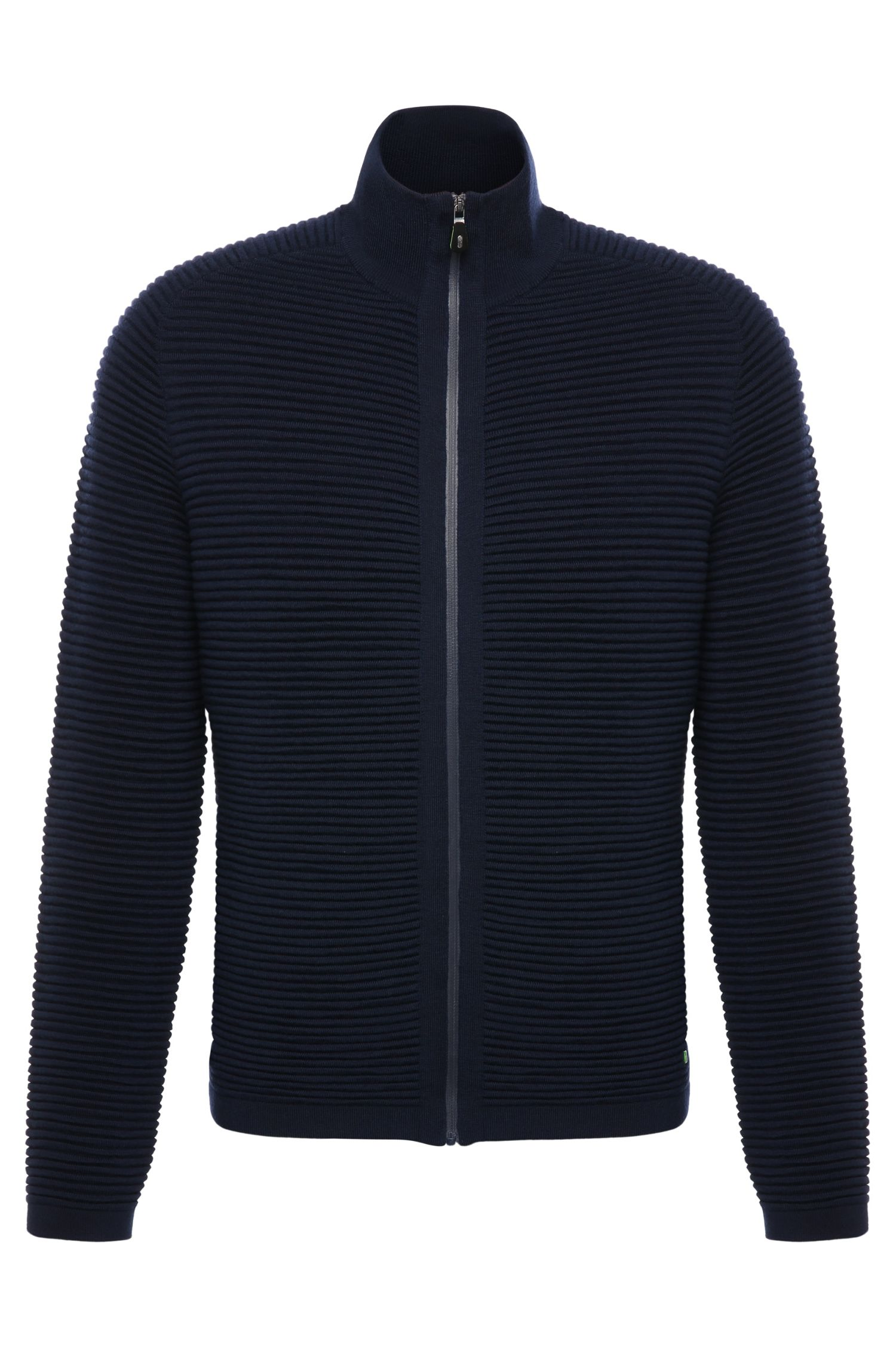 Regular-fit jacket in new-wool blend with cotton: 'Zoin'
