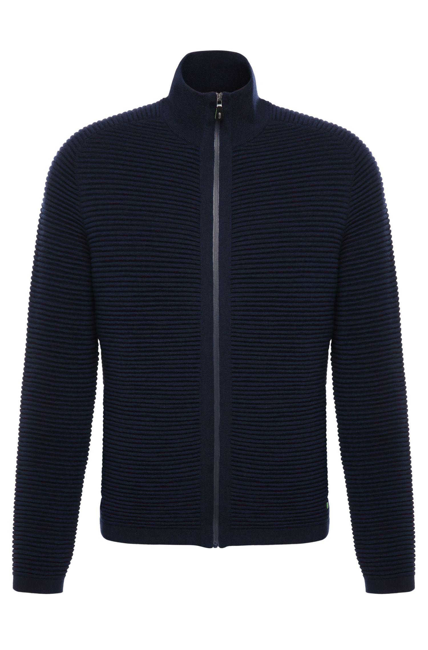 Blouson Regular Fit en laine vierge mélangée à teneur en coton: «Zoin»