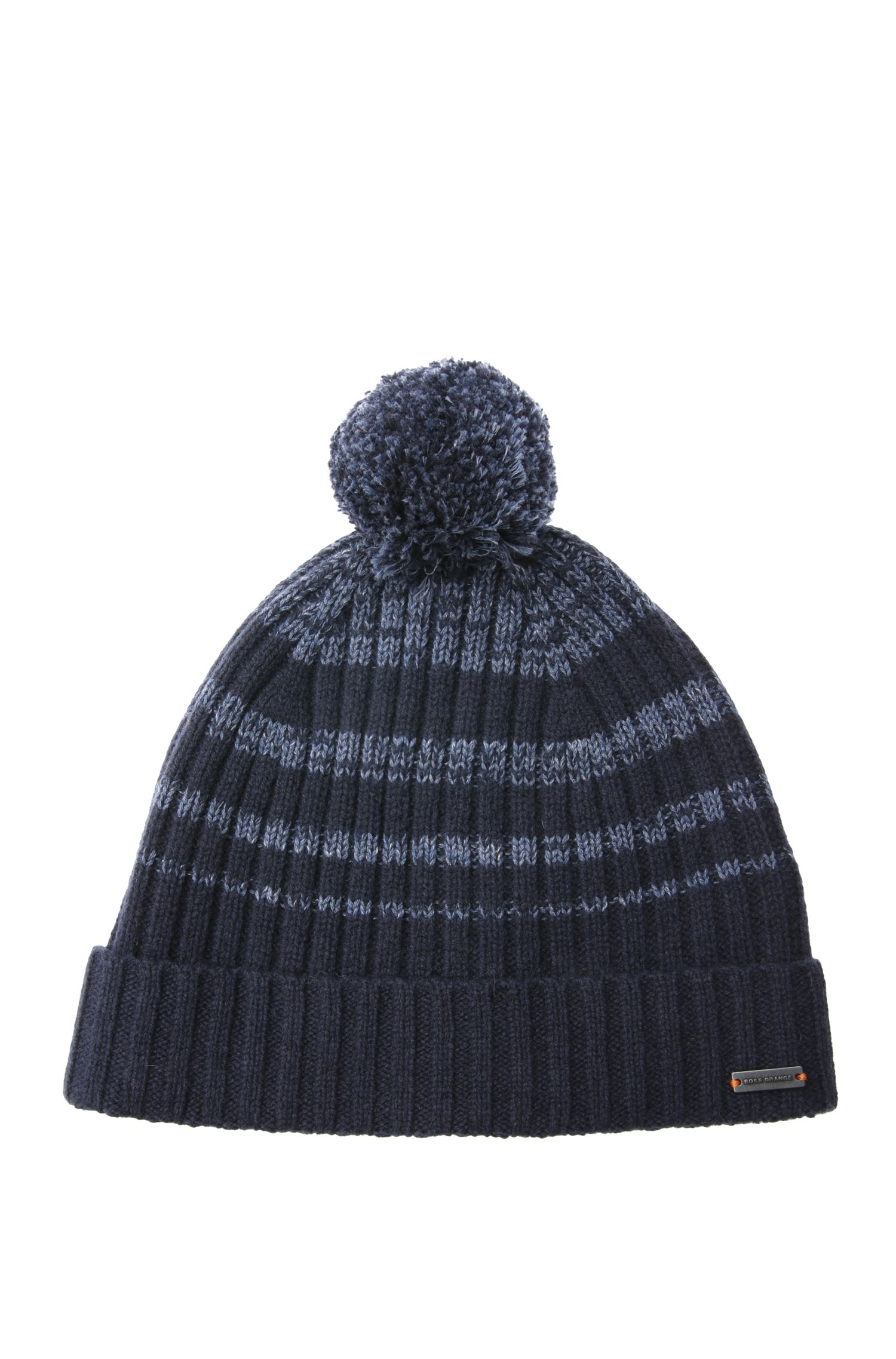 Striped knit cap with bobble: 'Akypons'