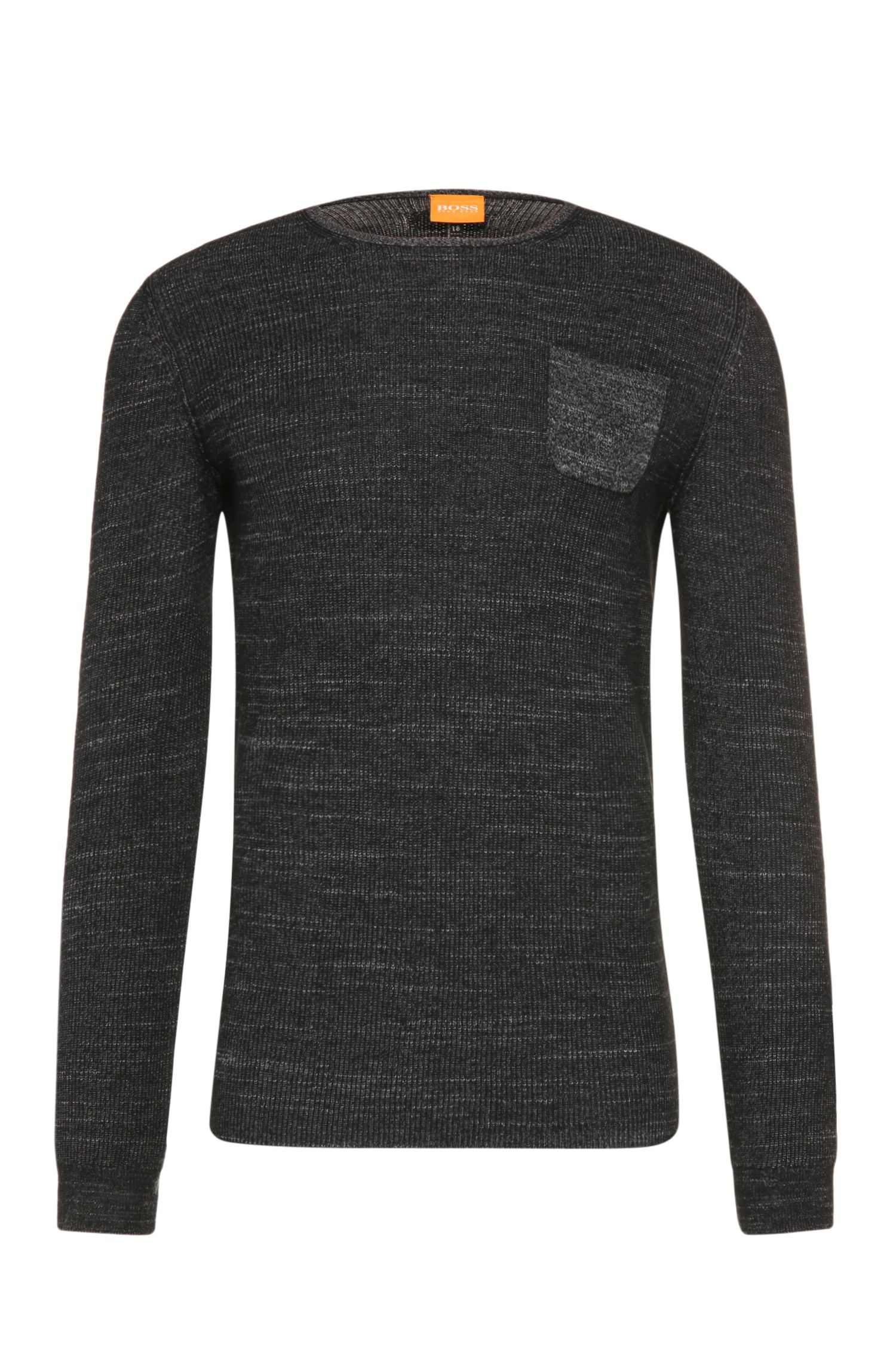 Jersey slim fit en mezcla de algodón con lana virgen y alpaca: 'Kutask'