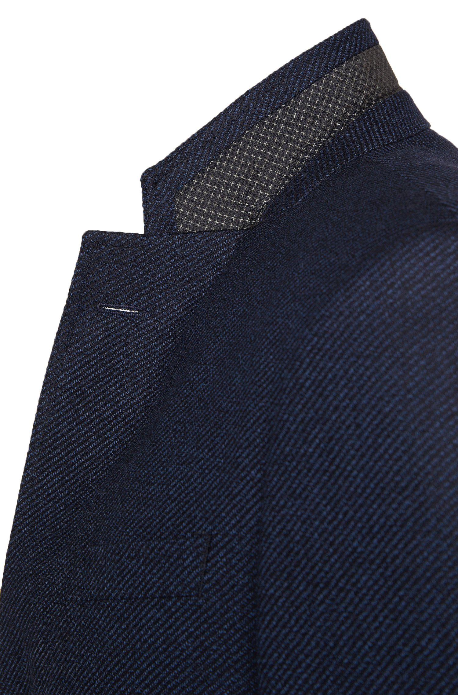 Slim-Fit Sakko aus strukturierter Schurwolle: 'Hutsons2'
