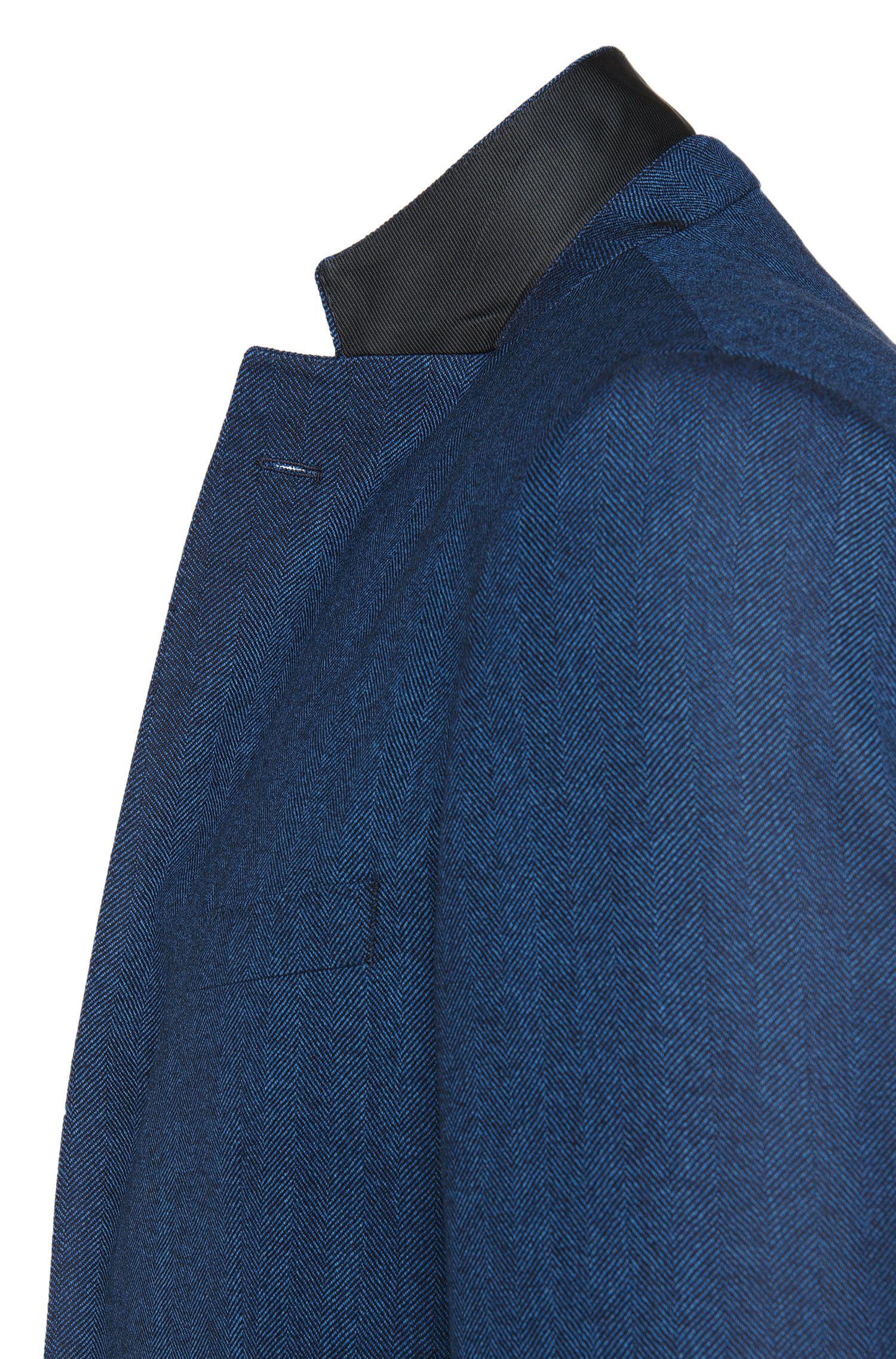 Regular-Fit Sakko aus Schurwolle mit Fischgrät-Muster: 'Janson2'