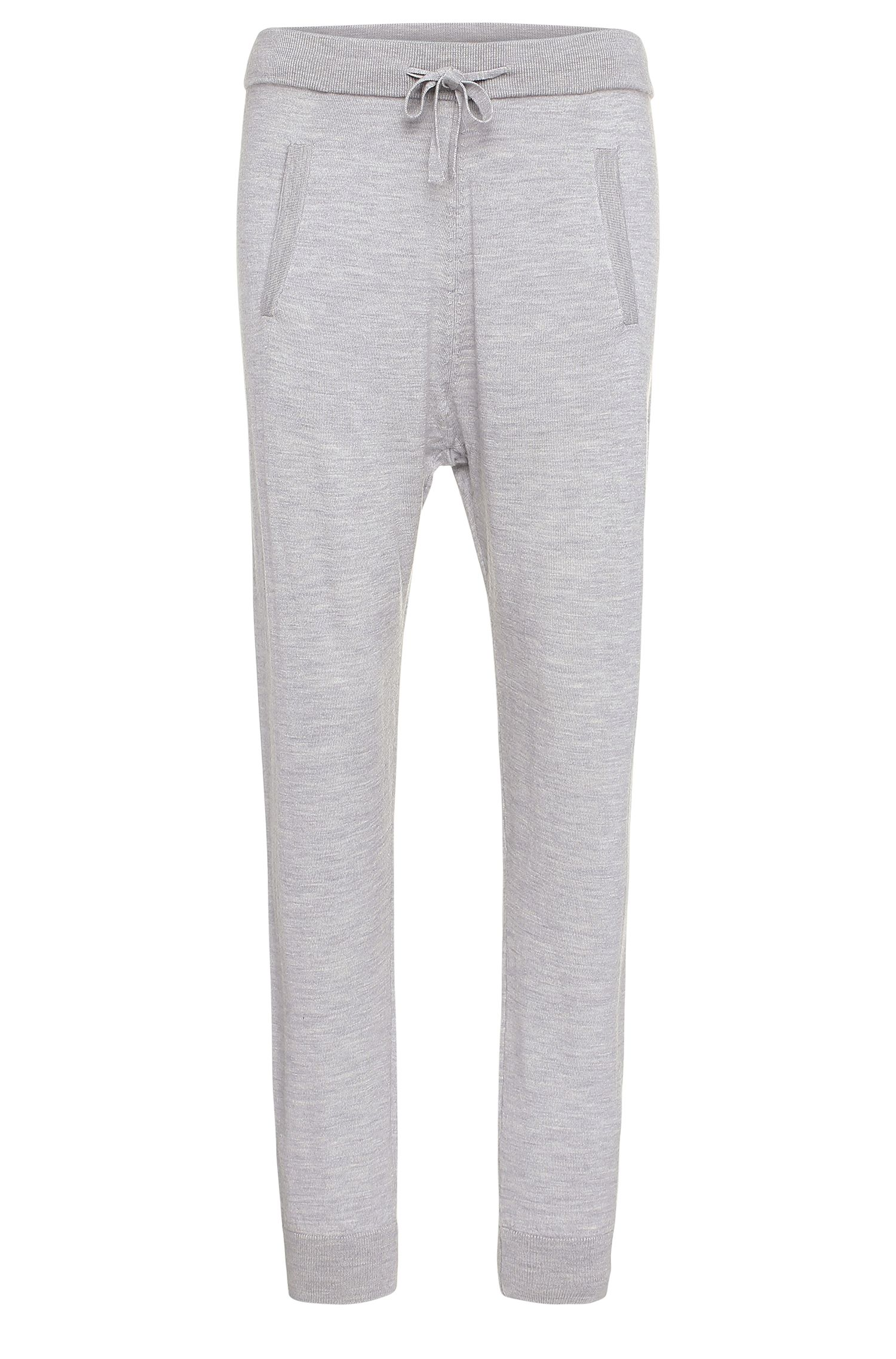 Knitwear trousers in pure new wool in jogger style: 'Ipants'