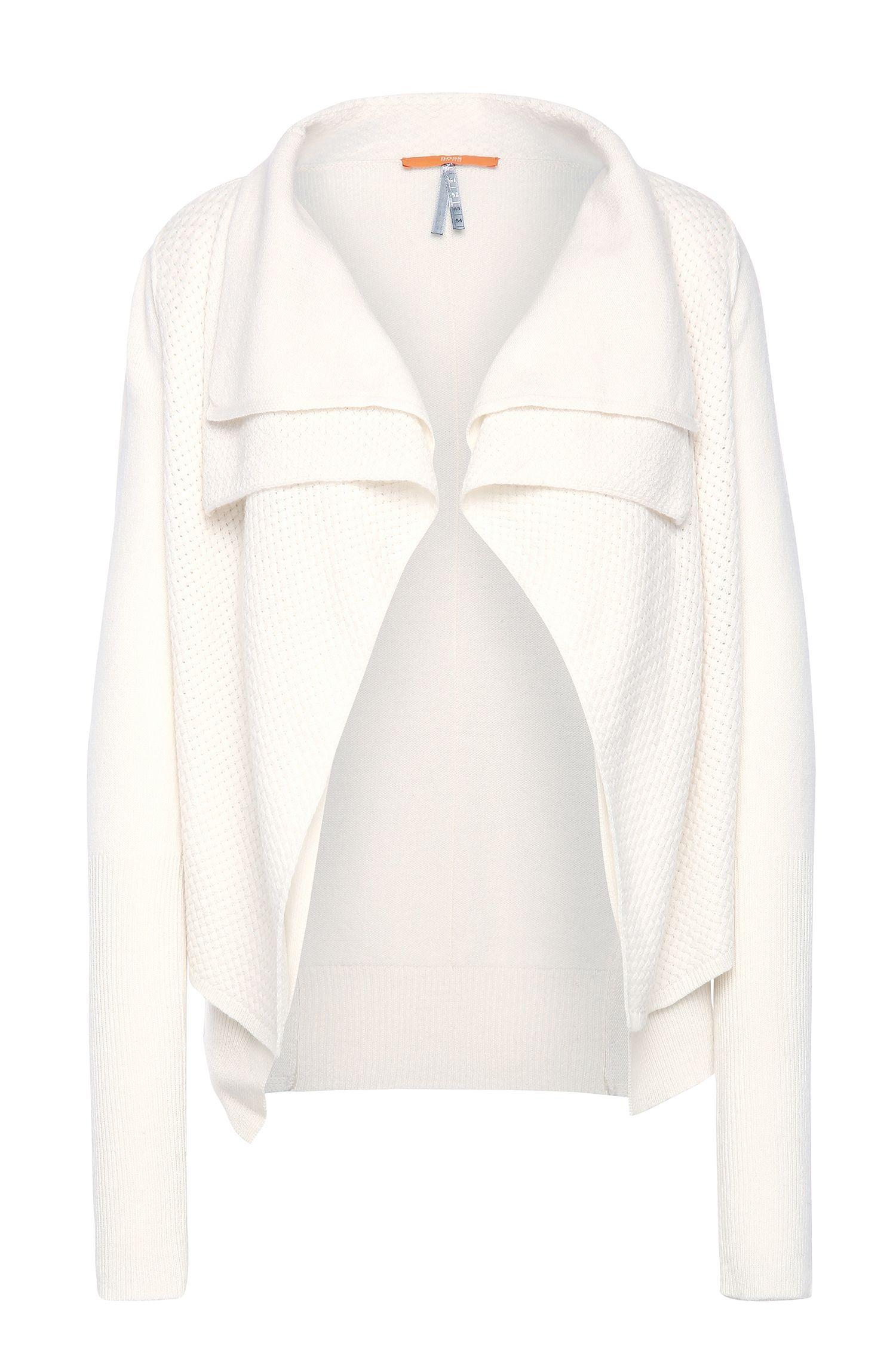 Gebreid vest van scheerwol in een laagjesdesign: 'Ivettal'