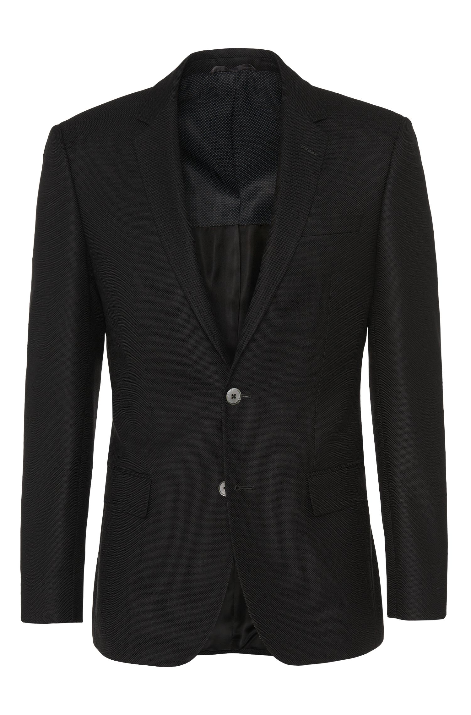 Slim-fit jacket in new-wool blend with cashmere: 'Hutsons2'