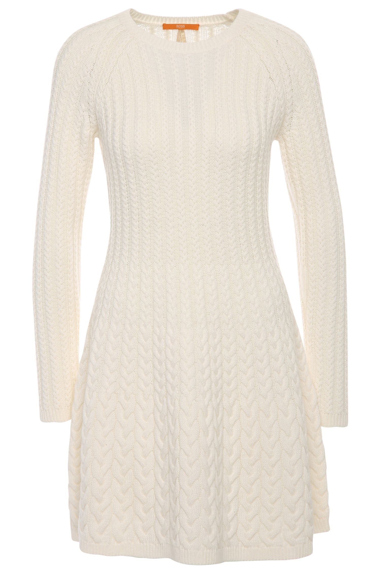 Short knit dress in fabric blend with new wool and alpaca: 'Wedenas'