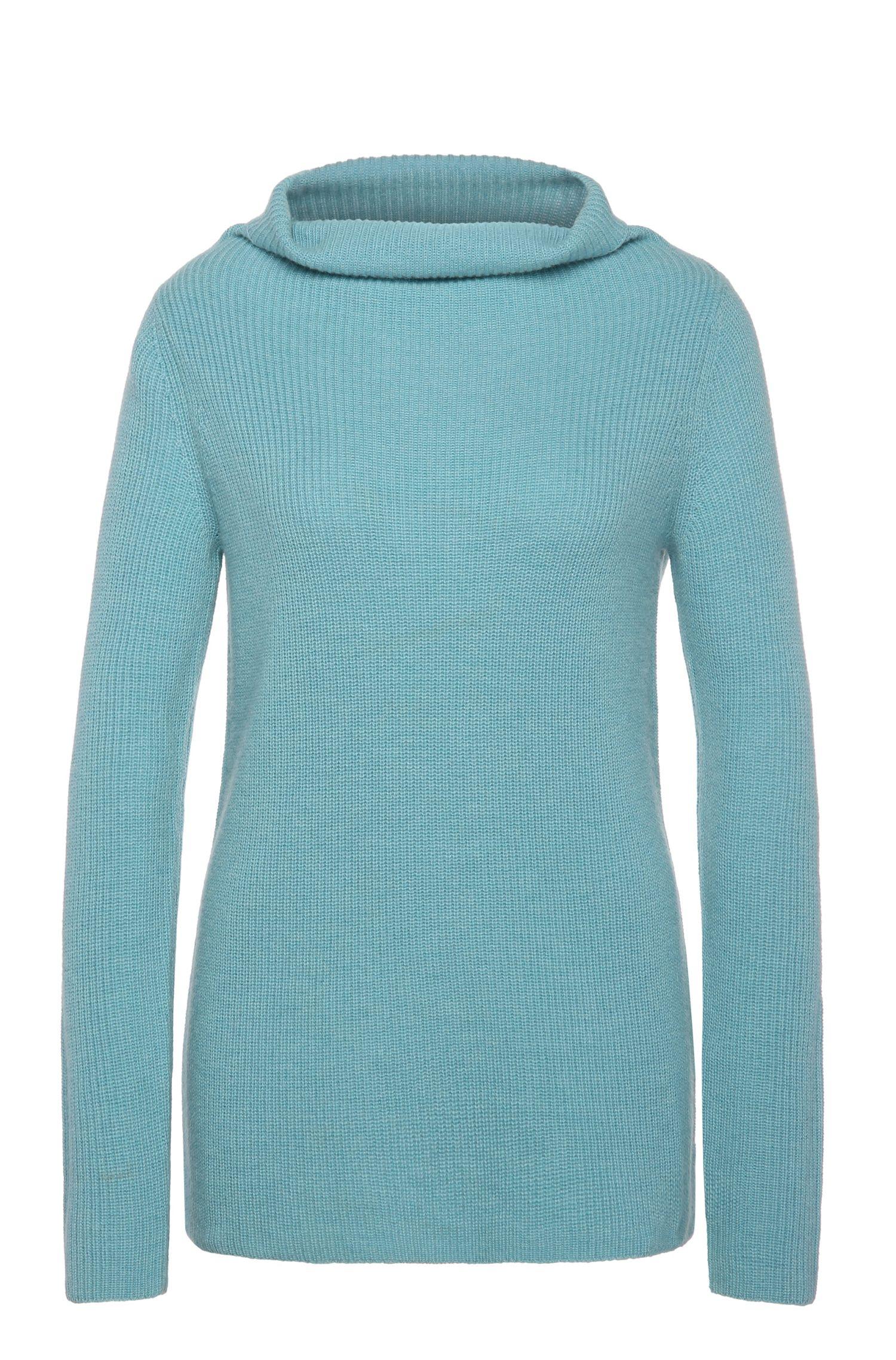 Gebreide regular-fit trui van een materiaalmix met scheerwol en alpaca: 'Willimplia'