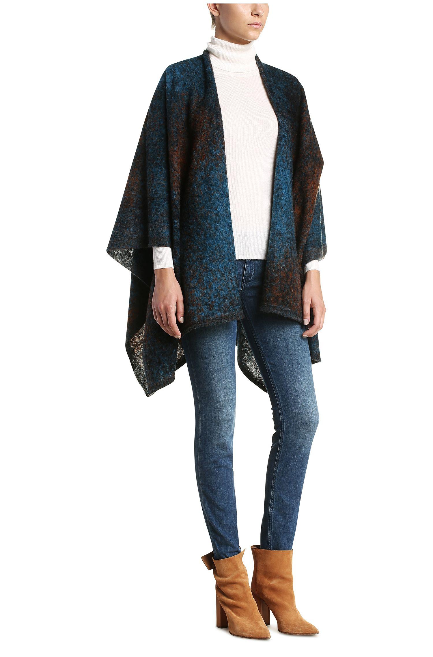 Pull à col roulé en matières mélangées à de la laine vierge et de l'alpaga: «Weria»