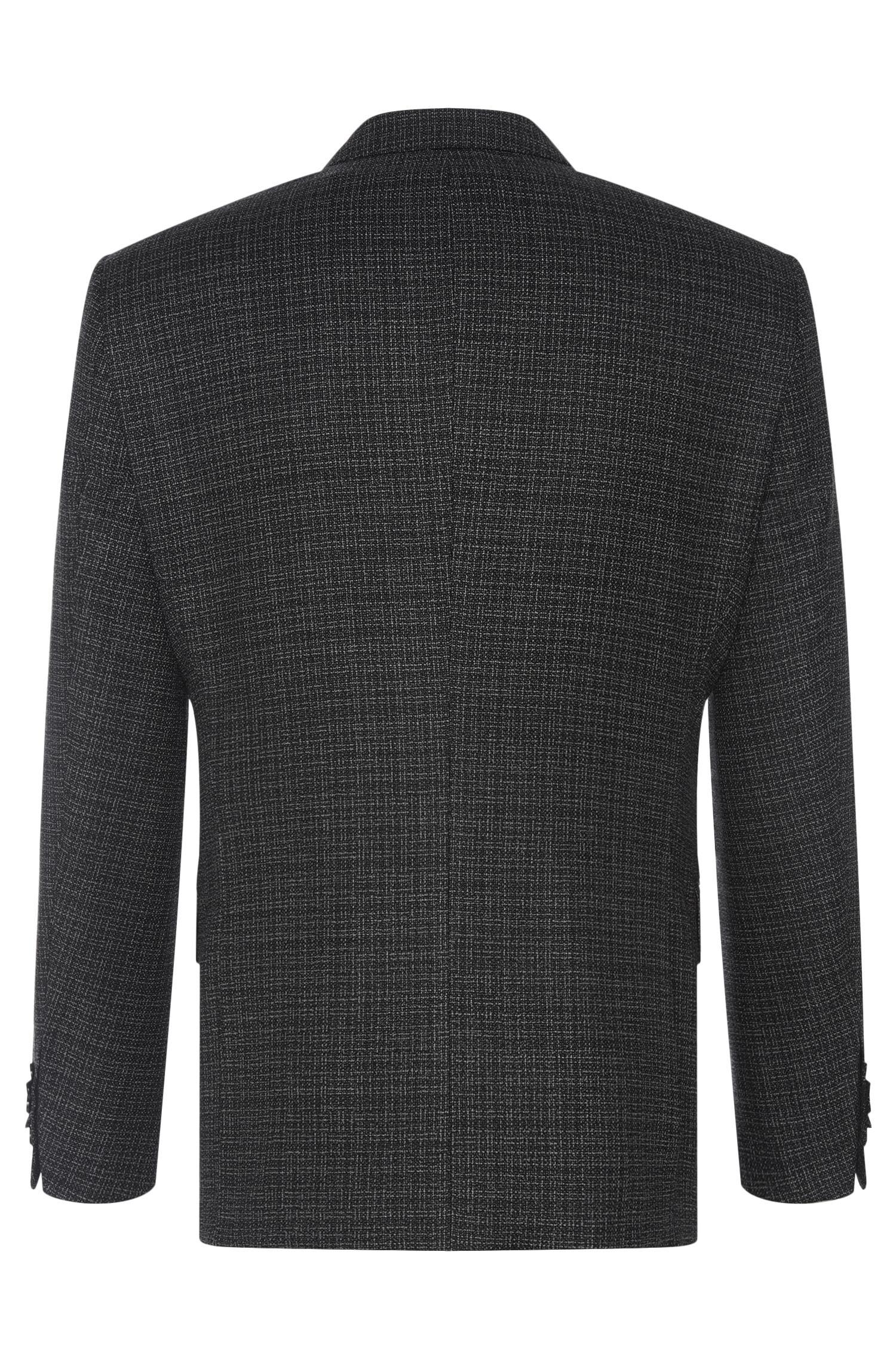 Fein strukturiertes Slim-Fit Tailored Sakko aus reiner Schurwolle: 'T-Heel1'