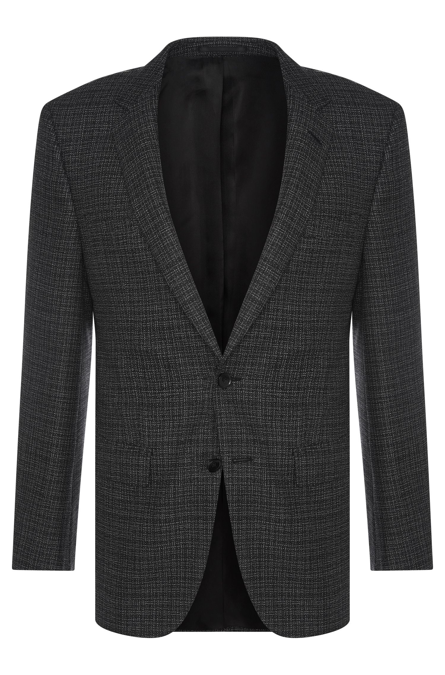 Finely textured slim-fit Tailored jacket in pure new wool: 'T-Heel1'