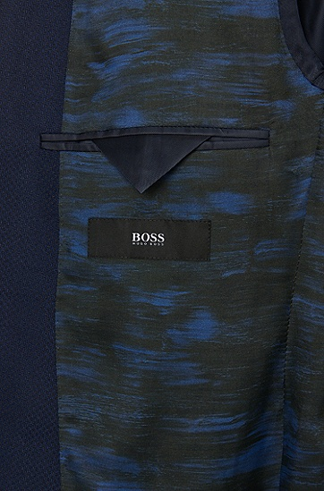 Extra Slim-Fit Sakko aus Schurwolle mit aufgesetzten Taschen: 'Raye5', Blau
