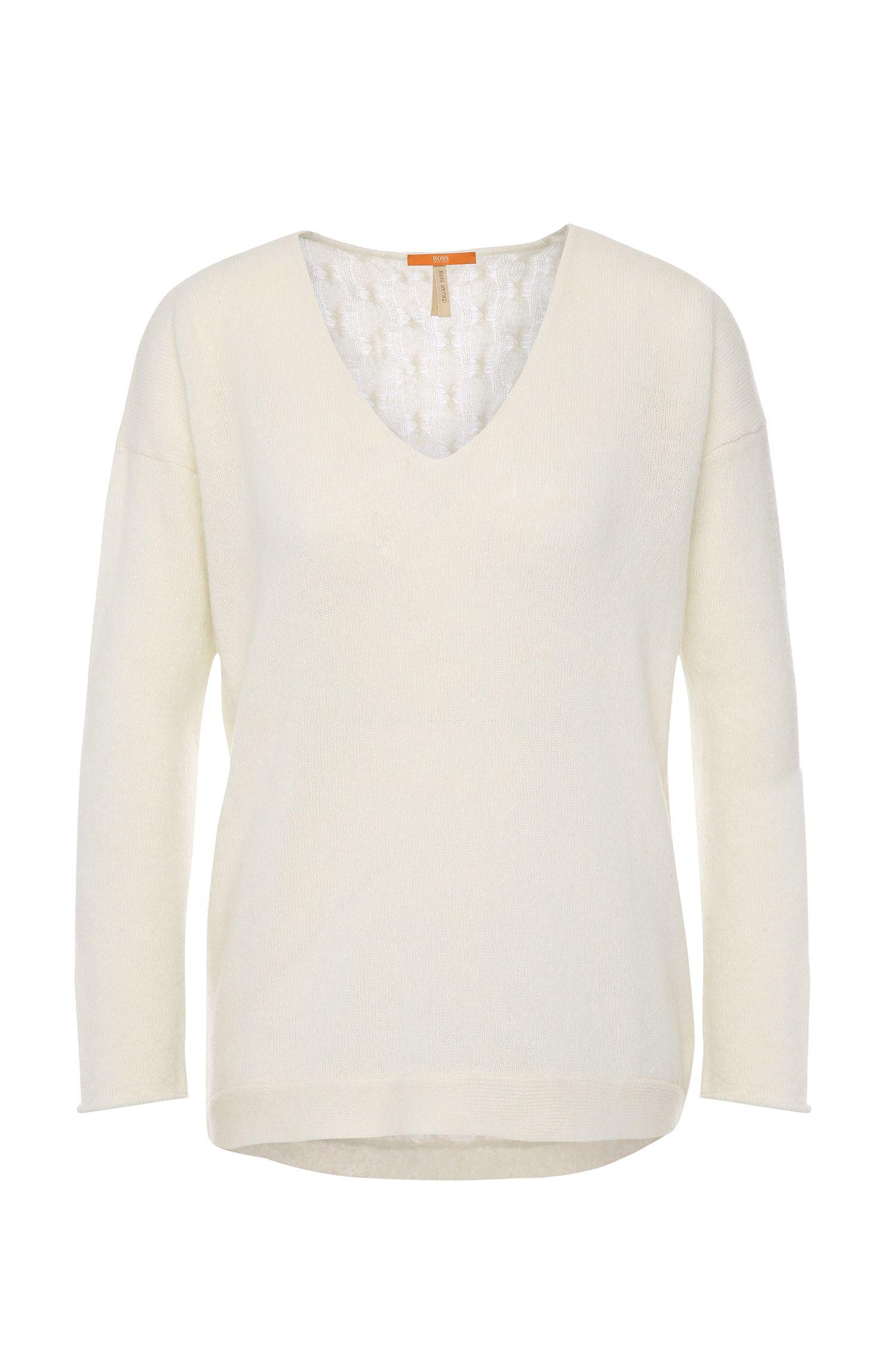 Gebreide trui van een alpacamix: 'Wiltora'