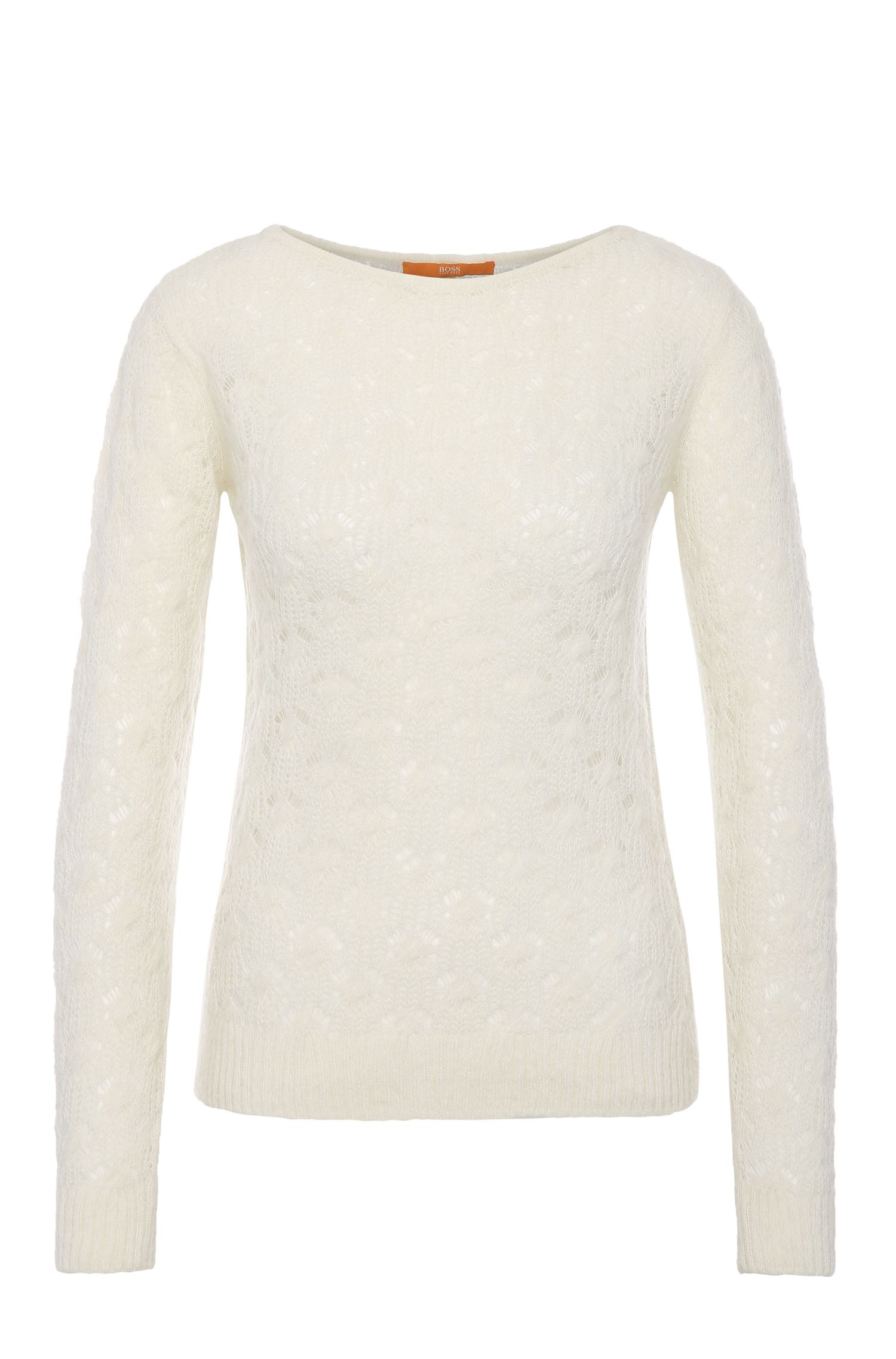 Alpaca-blend knit sweater with a figure-hugging fit: 'Wionah'