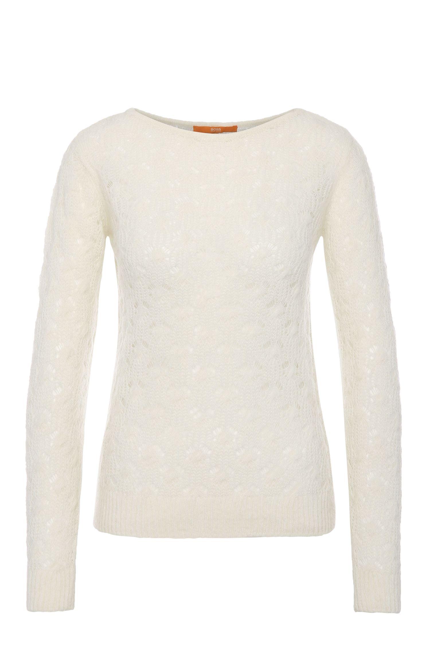 Gebreide trui in een nauwsluitend model van een alpacamix: 'Wionah'