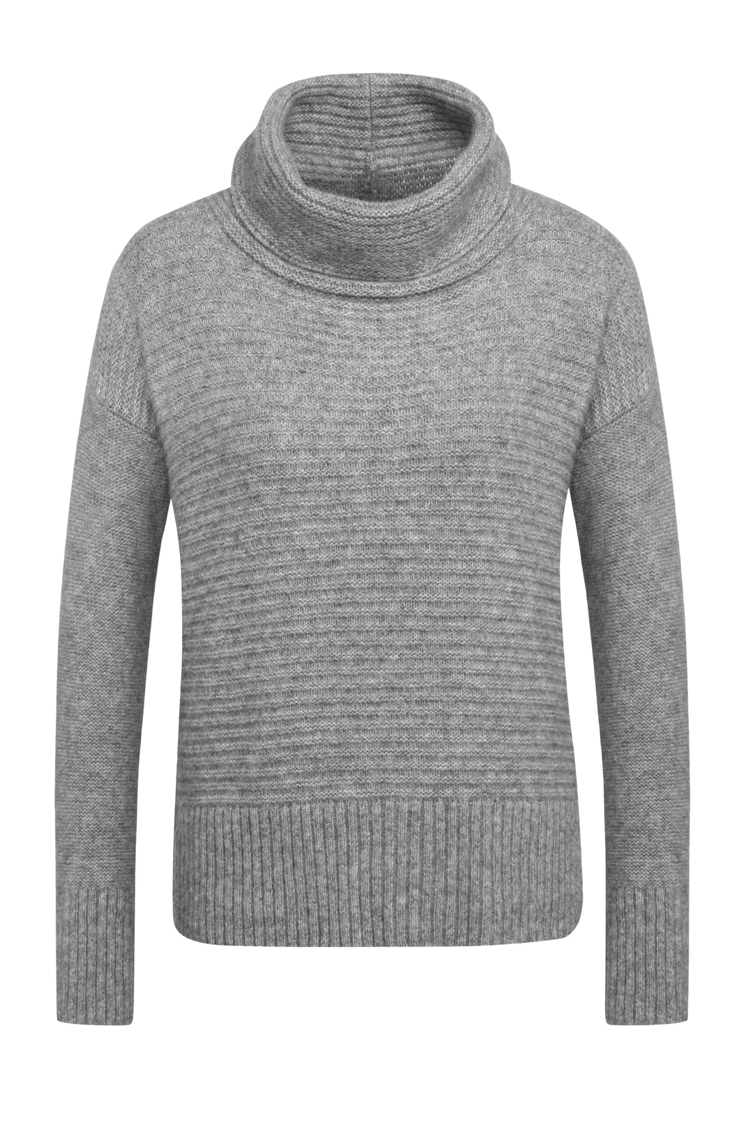 Regular-fit sweater in a fabric blend with alpaca and wool: 'Wilke'