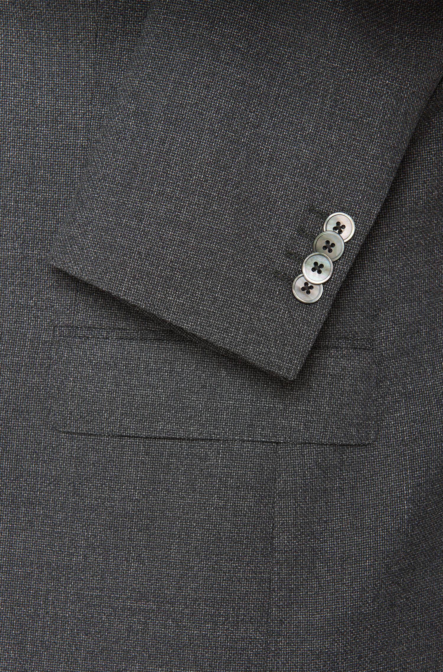 Regular-Fit Sakko aus Schurwolle mit Billet-Tasche: 'Johnston3'