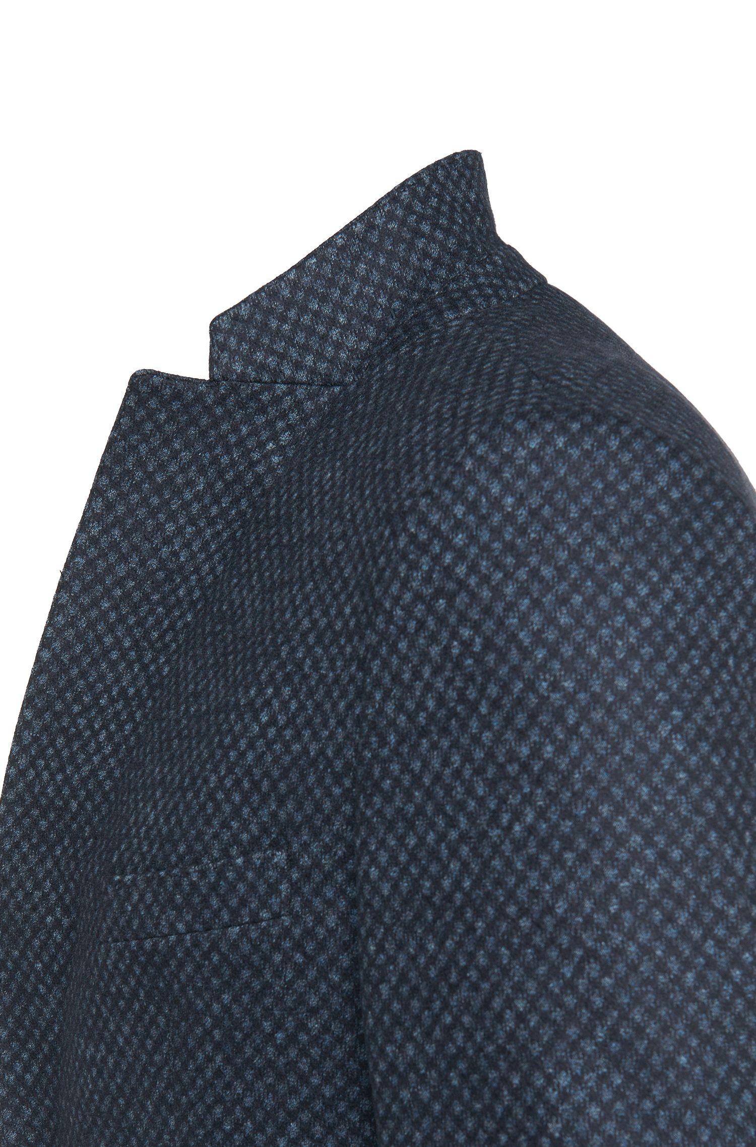 Slim-fit colbert met dessin, van een scheerwolmix met katoen: 'Norwin1'
