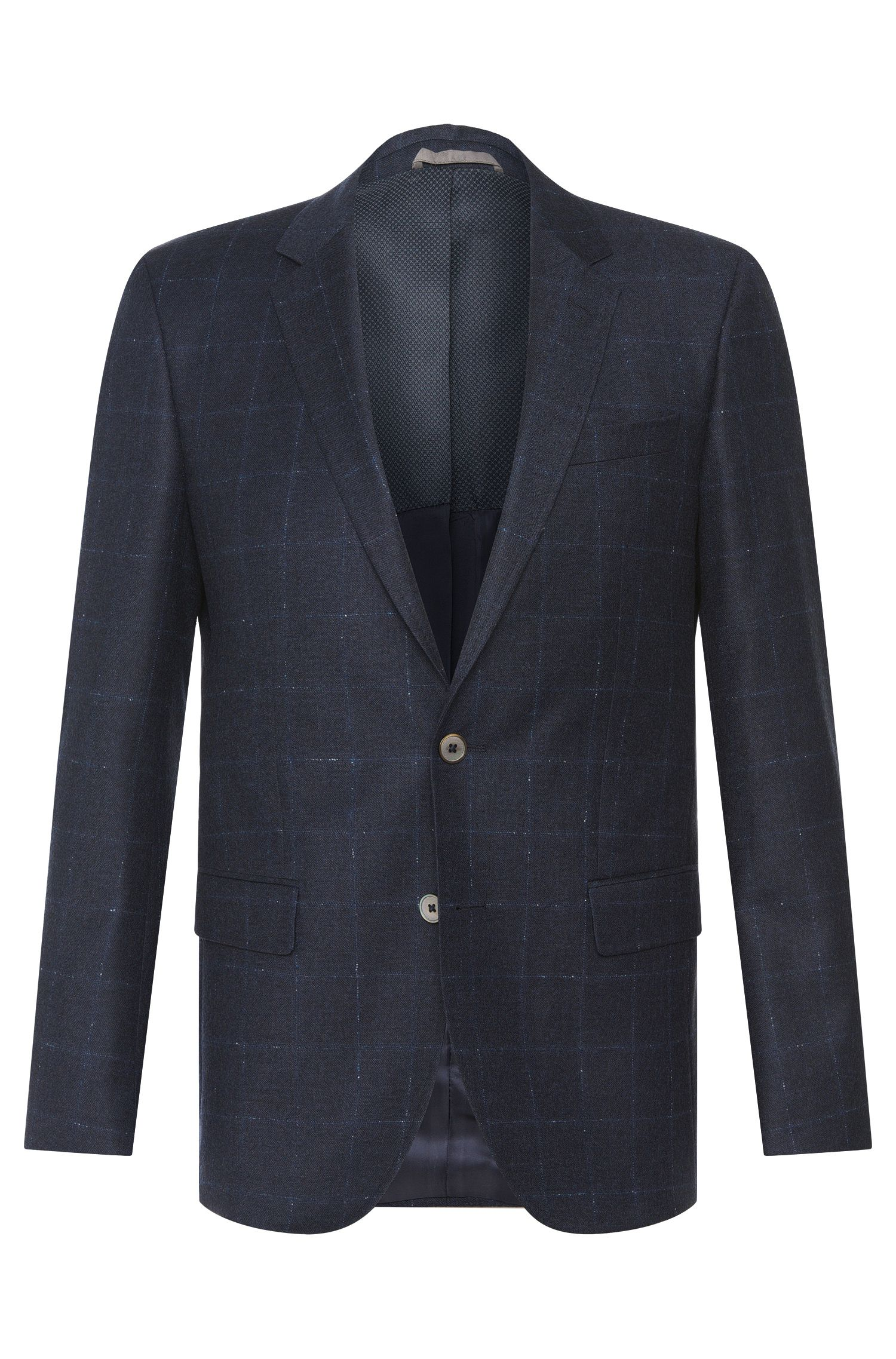 Checked slim-fit jacket in new wool: 'Hutsons2'