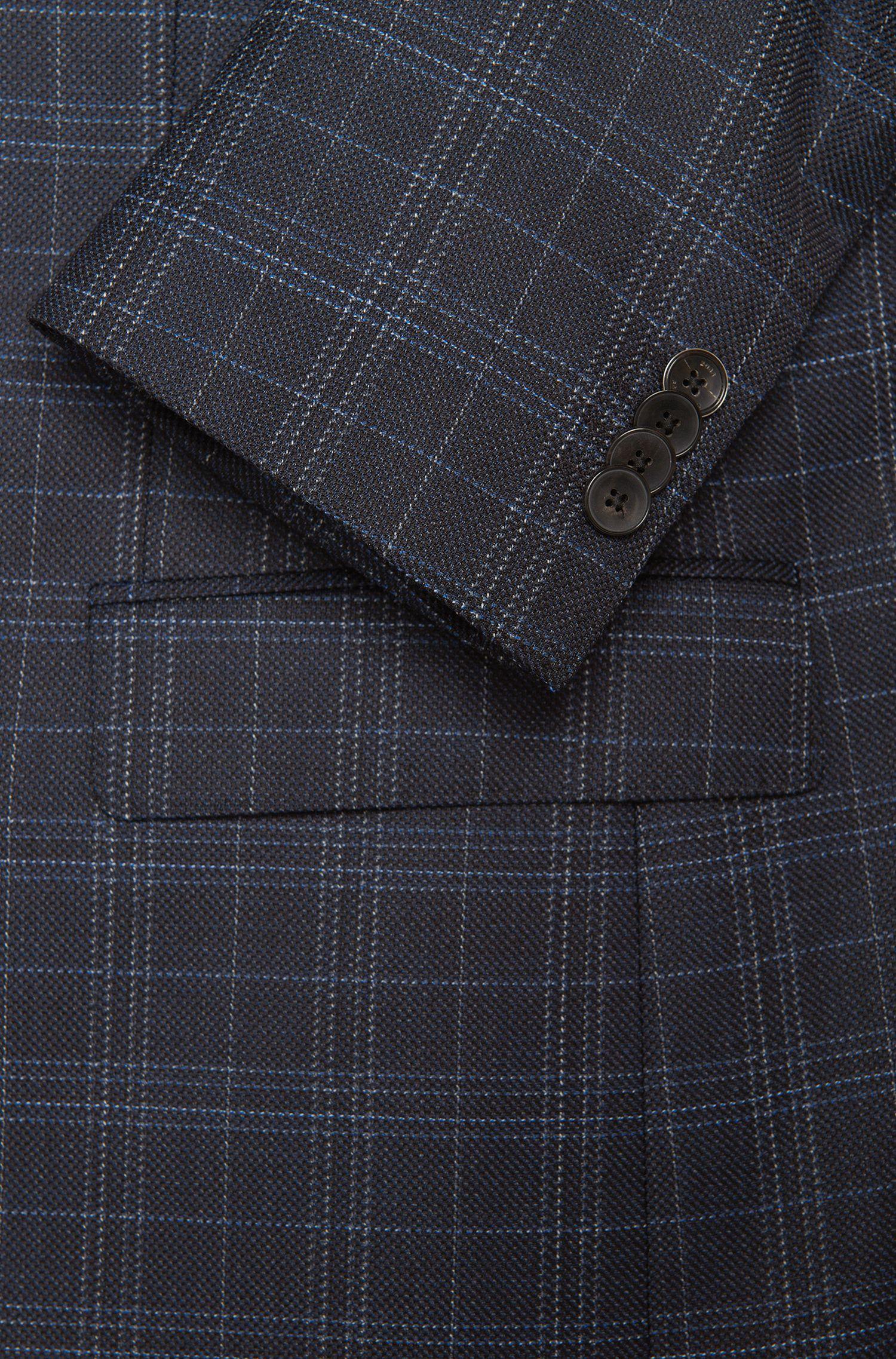 Veste de costume Regular Fit en laine vierge à motif à carreaux: «Jeen»