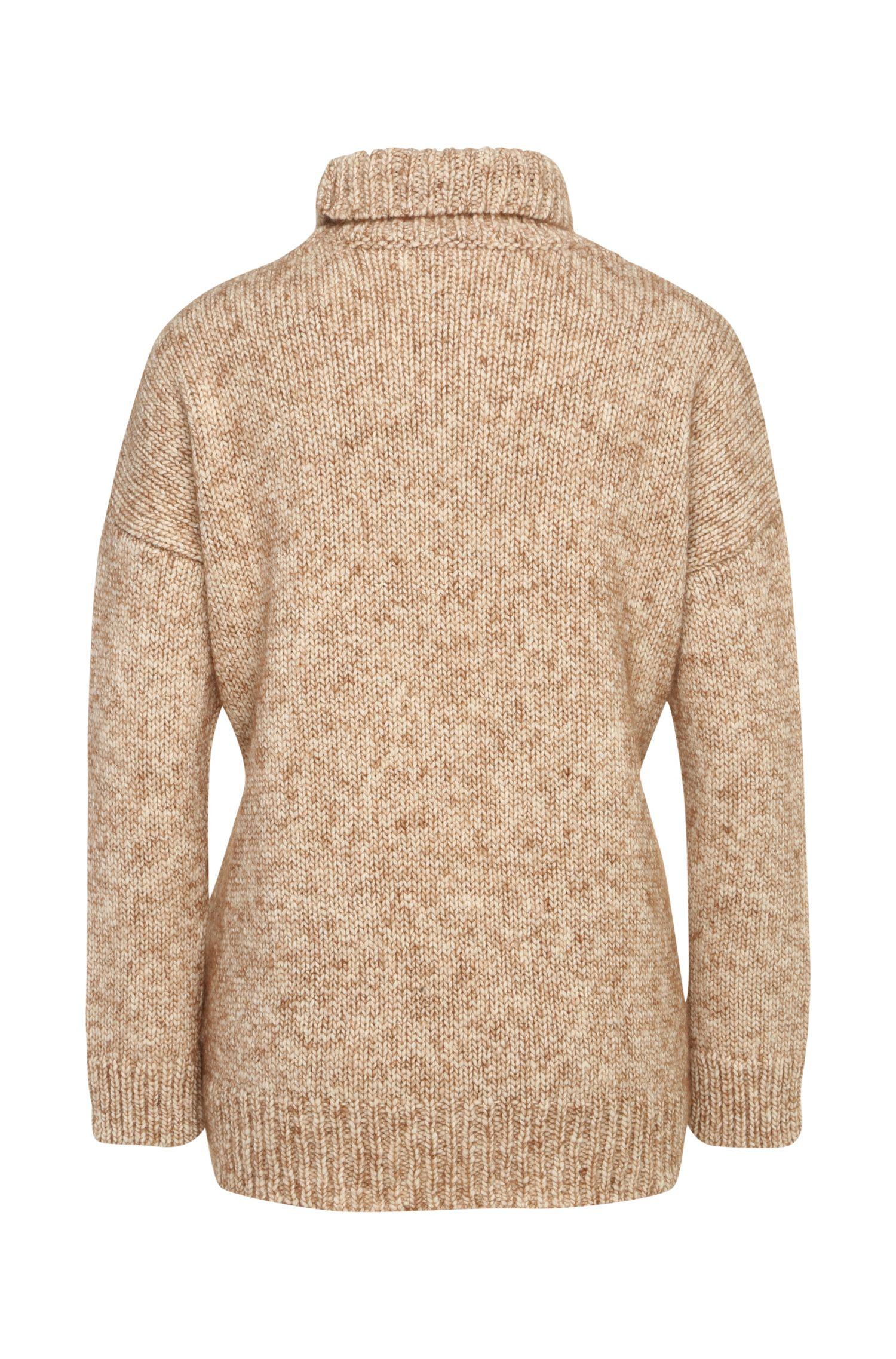 Gebreide trui van een wolmix met alpaca: 'Wenella'