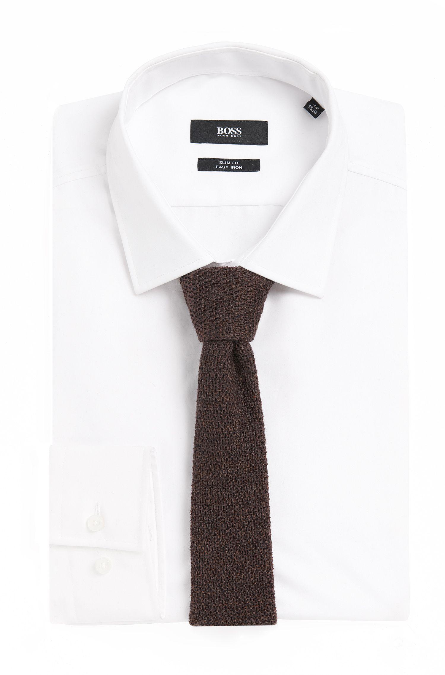 Gebreide stropdas van zuivere wol: 'Tie 5 cm knitted'