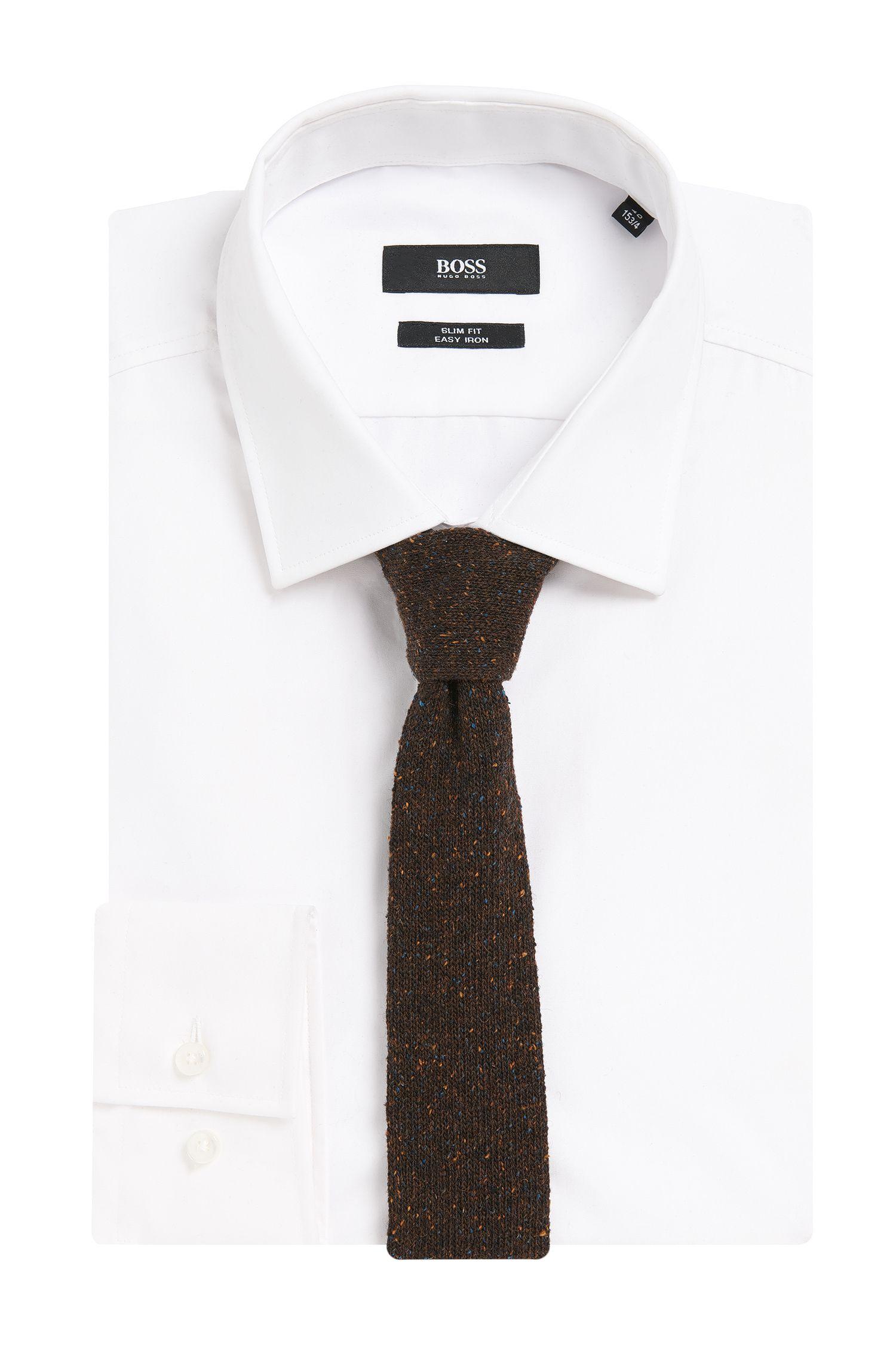 Krawatte aus Woll-Mix mit Seiden-Anteil in Strick-Qualität: 'Tie 5 cm knitted'