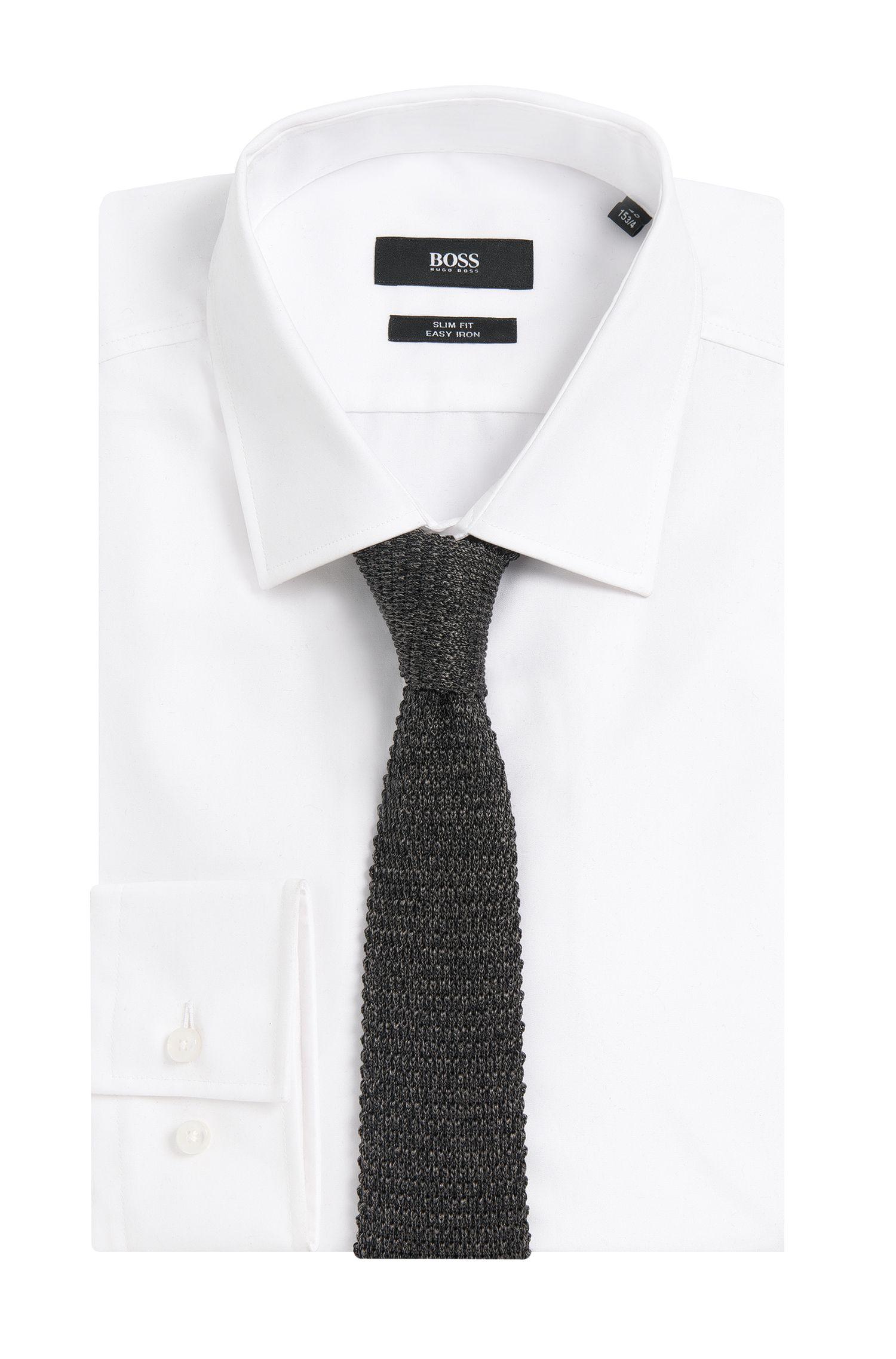 Cravate en maille de soie: «Tie 5cm knitted»