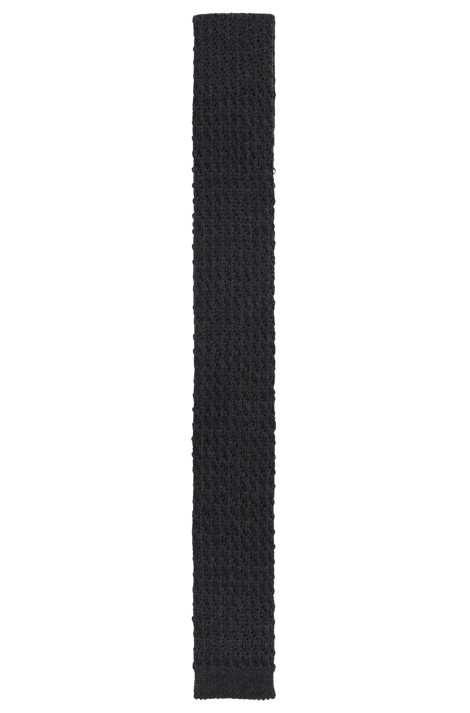 Krawatte aus Woll-Mix mit Seide in Strick-Qualität: 'Tie 5 cm knitted'