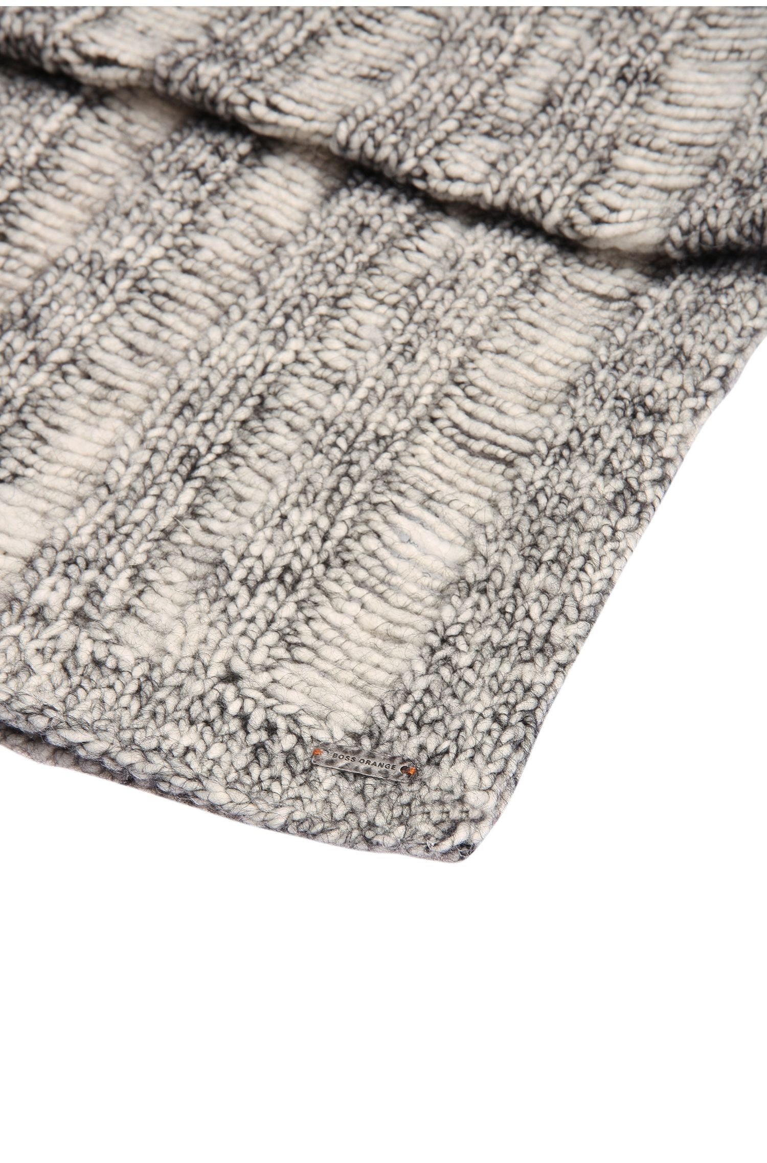 Écharpe en maille en laine mélangée à de l'alpaga: «Islina»