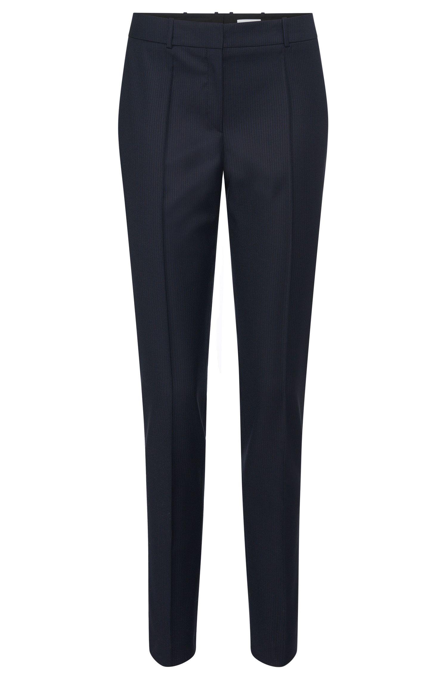 Pantalón de finas rayas slim fit en lana virgen: 'Tilunil1'