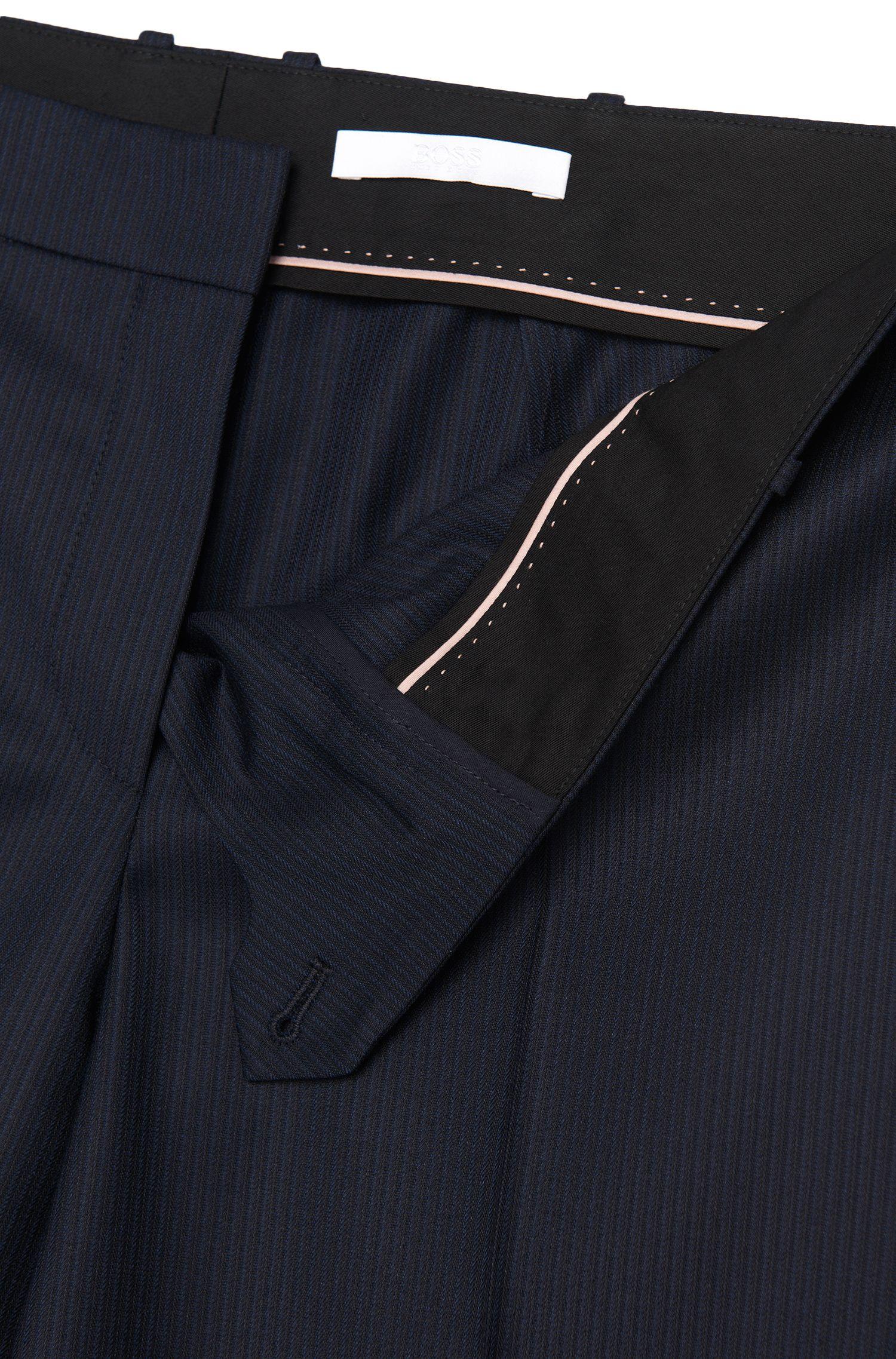 Fijngestreepte slim-fit broek van scheerwol: 'Tilunil1'