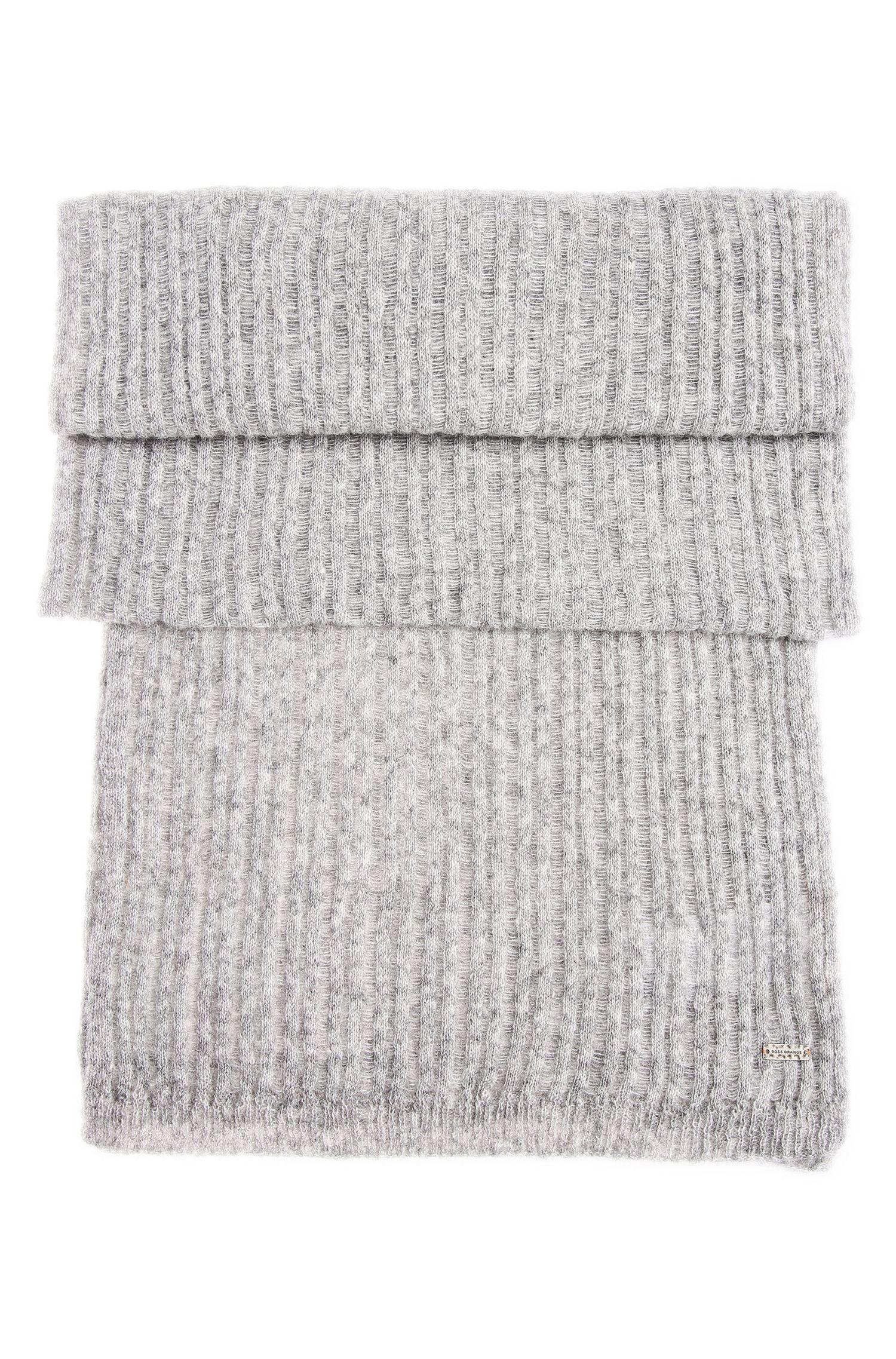 Gemêleerd gebreide sjaal van een alpacamix met wol: 'Ivlina'