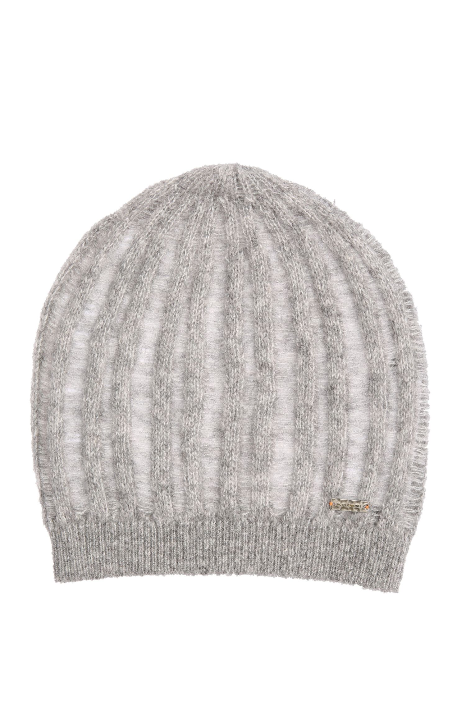 Beanie in alpaca blend with wool: 'Ivlisca'