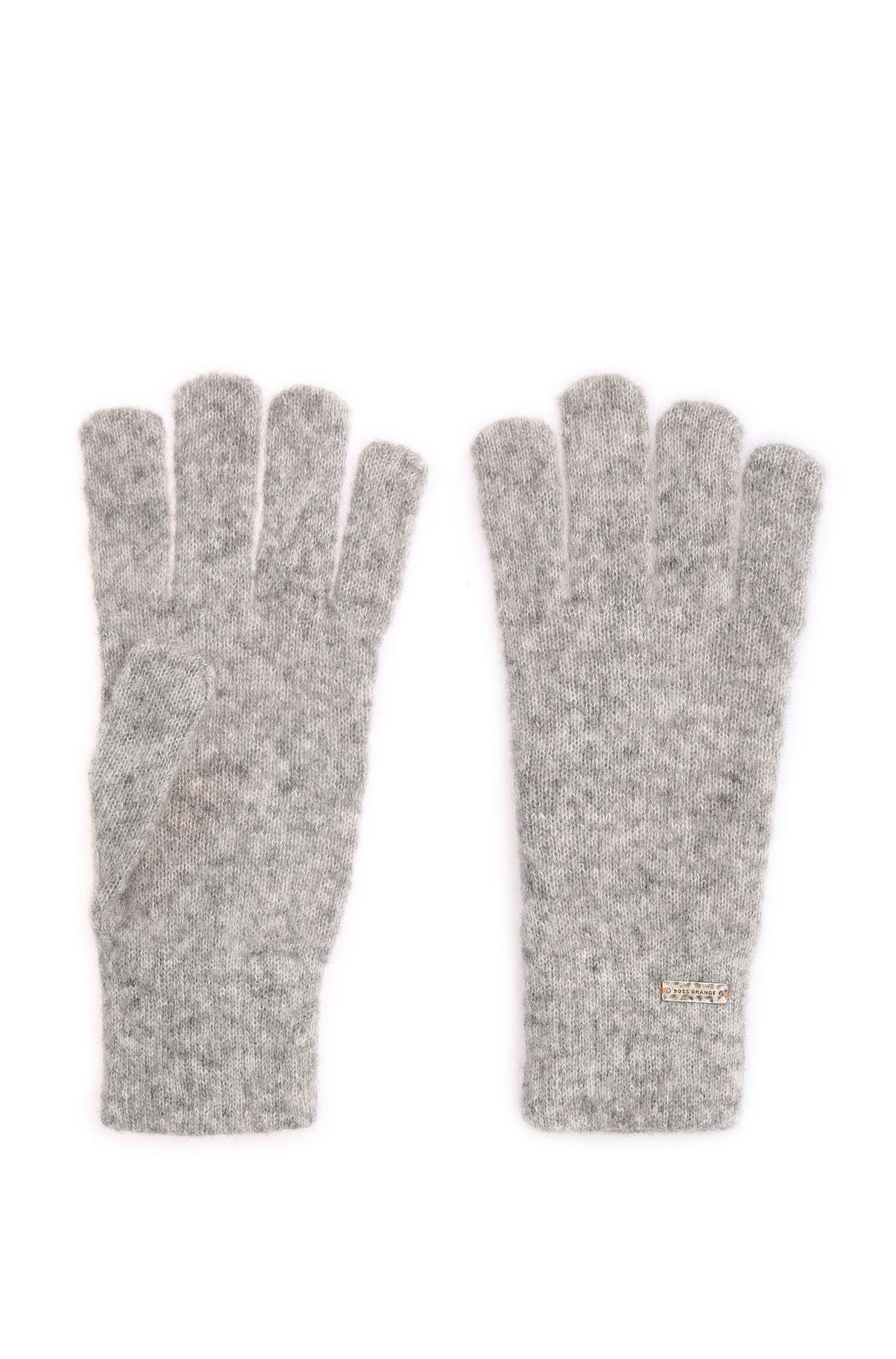 Melierte Strick-Handschuhe aus Alpaka-Mix mit Wolle: ´Ivlitta`