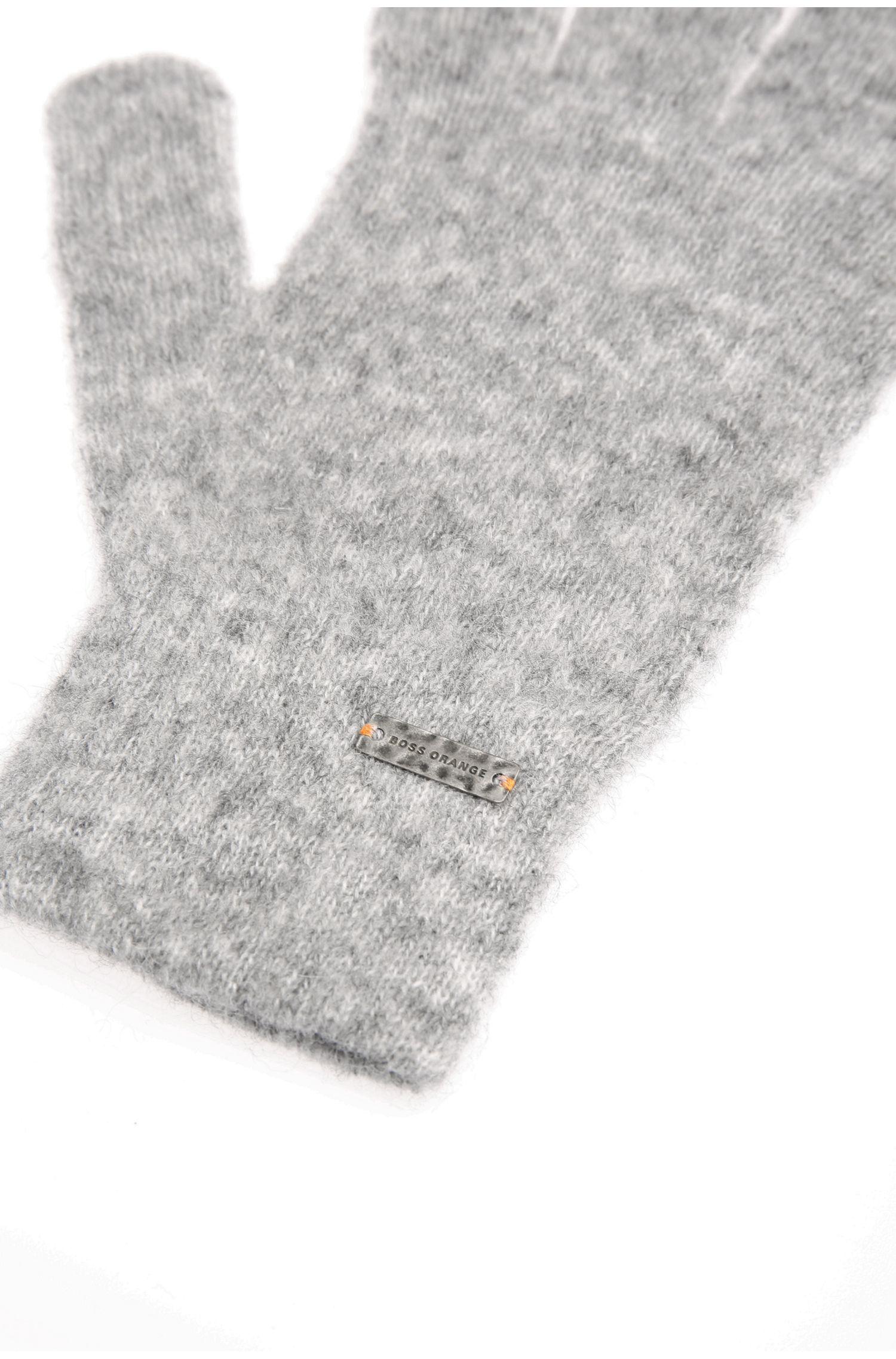 Gants en maille chinée d'alpaga mélangé, avec de la laine: «Ivlitta»