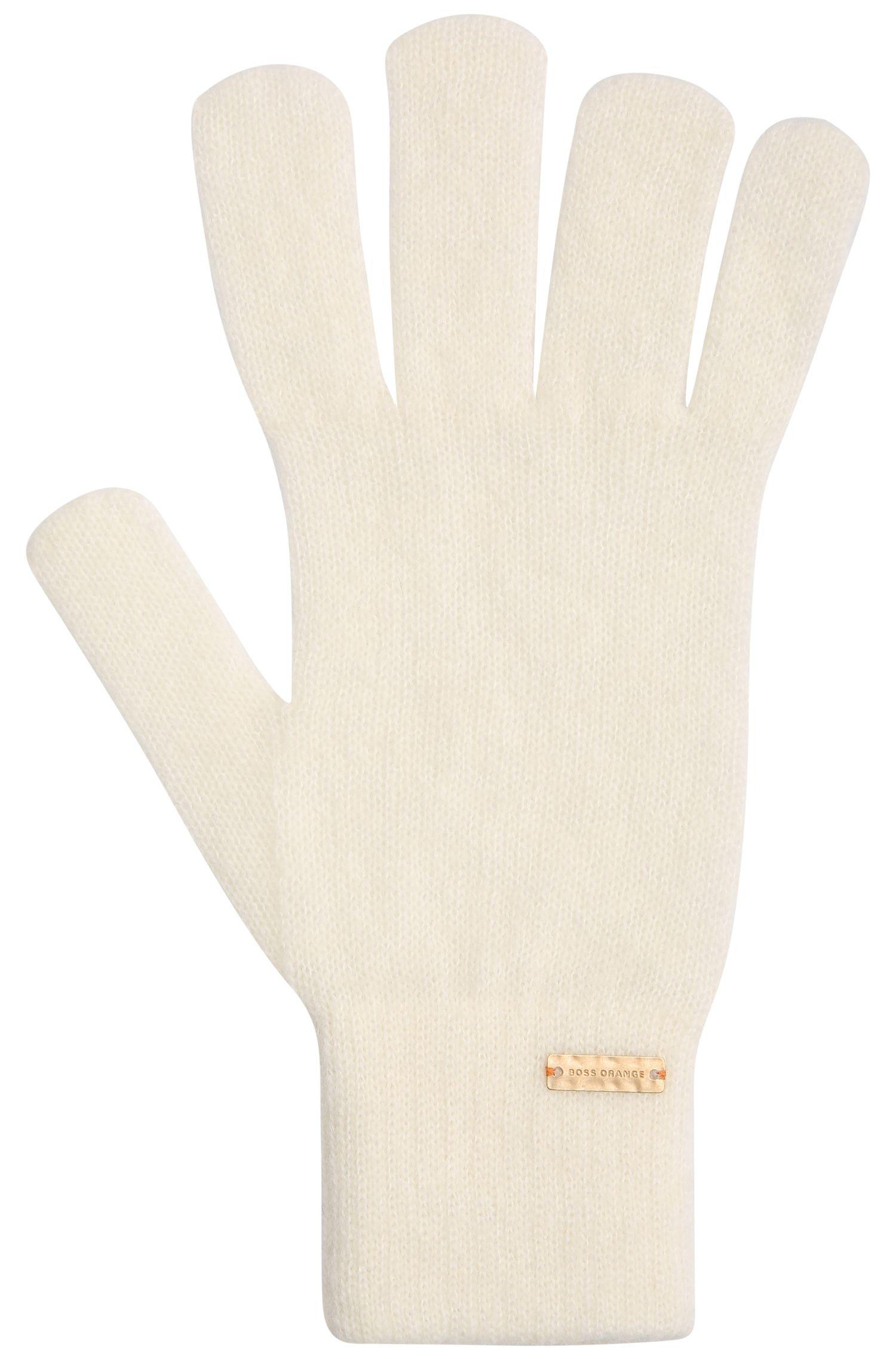 Gemêleerd gebreide handschoenen van een alpacamix met wol: 'Ivlitta'