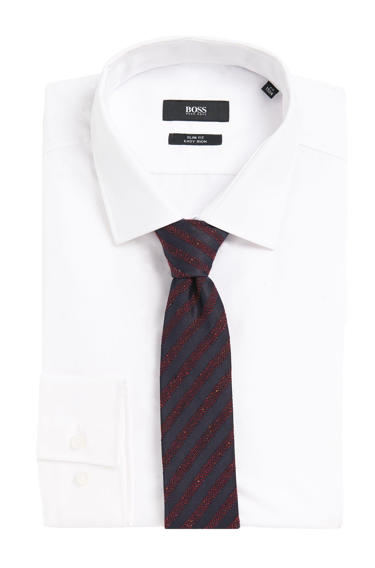 Bestickte Krawatte aus Seiden-Mix mit Wolle: 'Tie 6 cm'