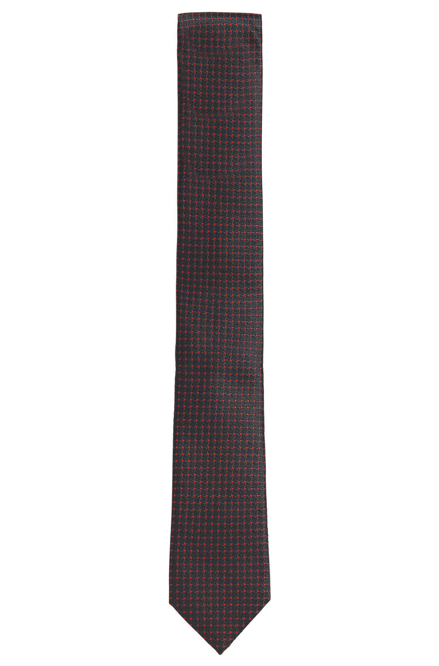Fein gemusterte Krawatte aus Seiden-Mix: 'Tie 6 cm'