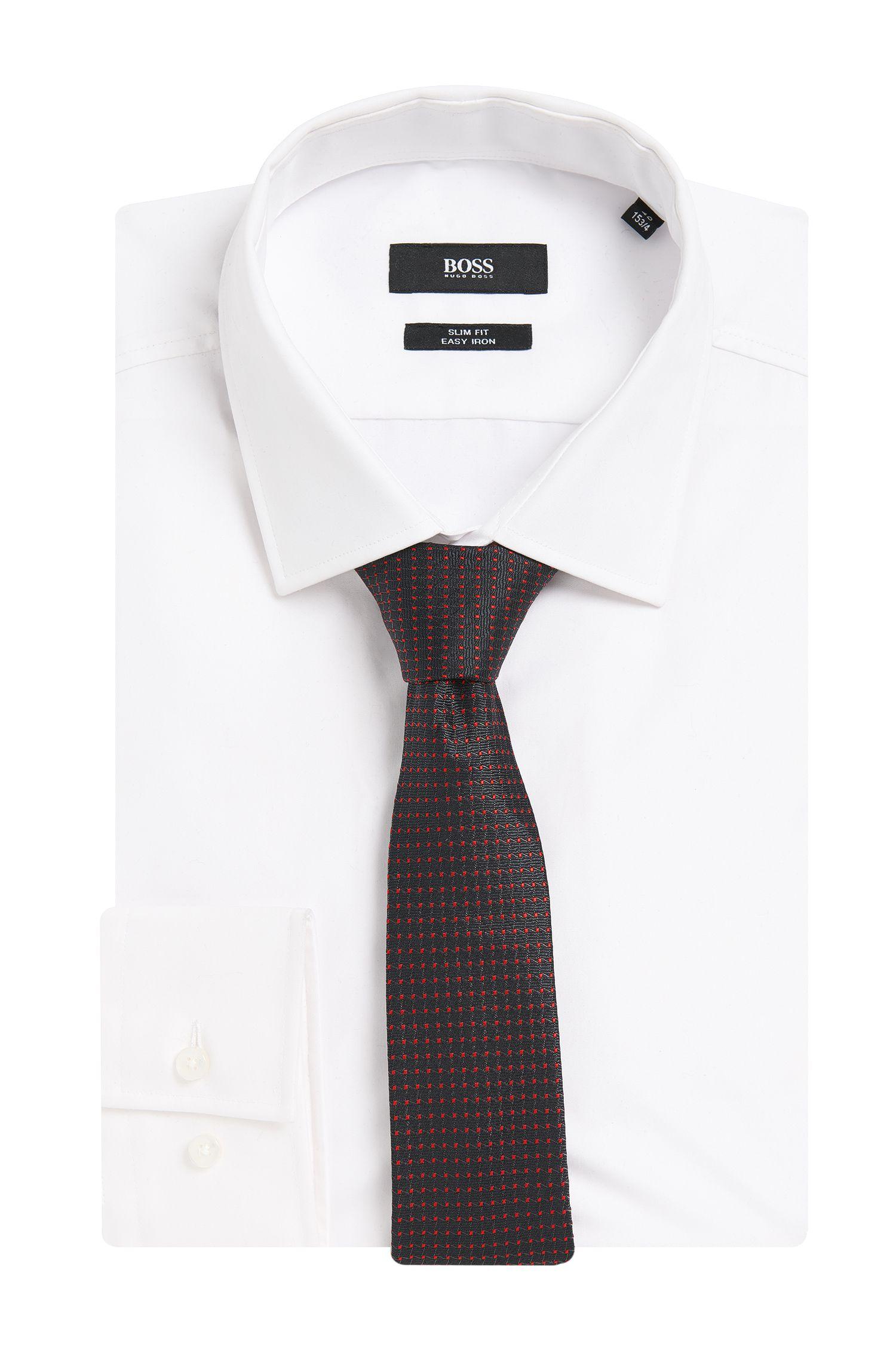 Cravate en soie mélangée à motif fin: «Tie6cm»