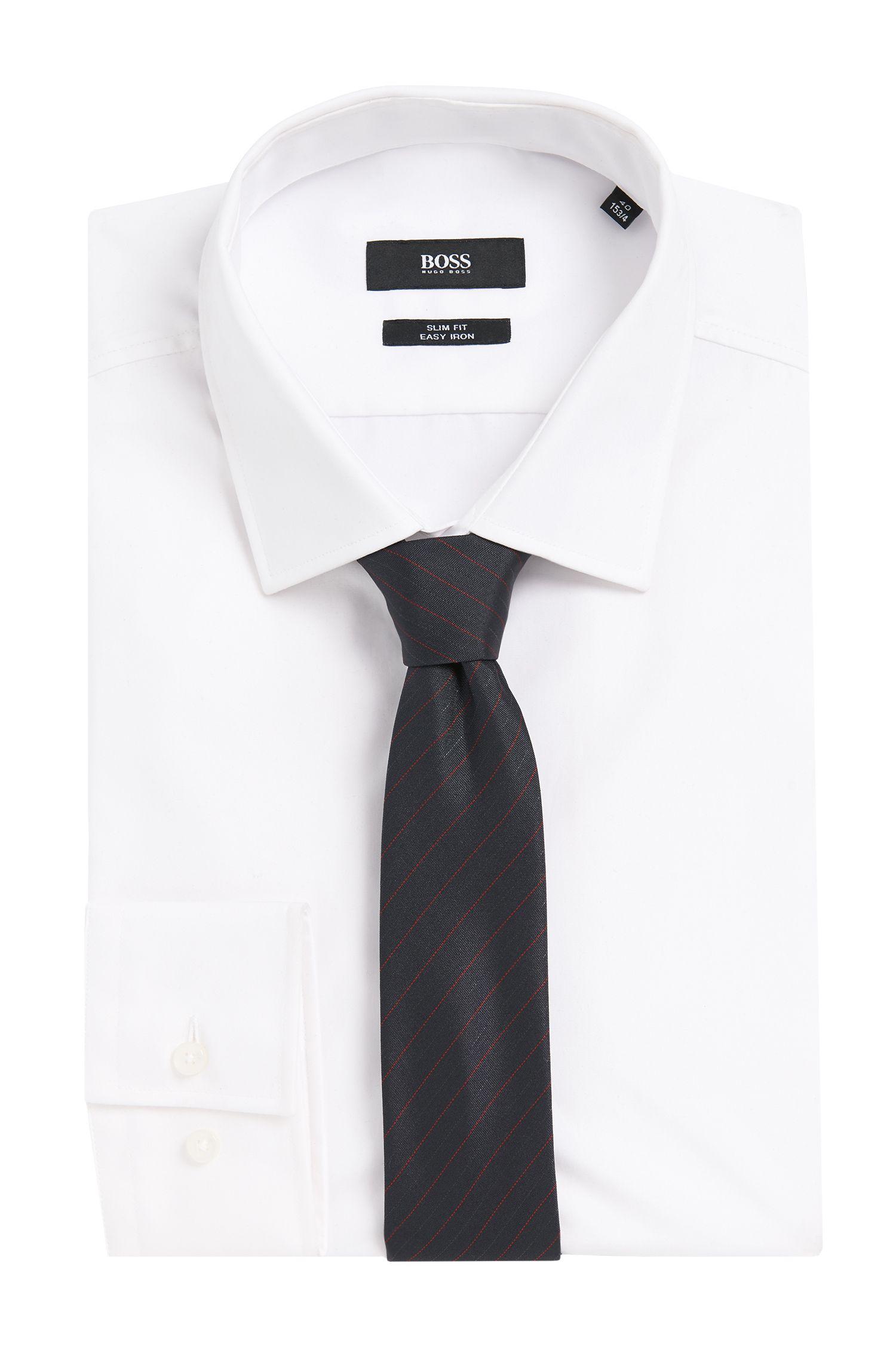 Krawatte aus Seiden-Mix mit Nadelstreifen: 'Tie 6 cm'