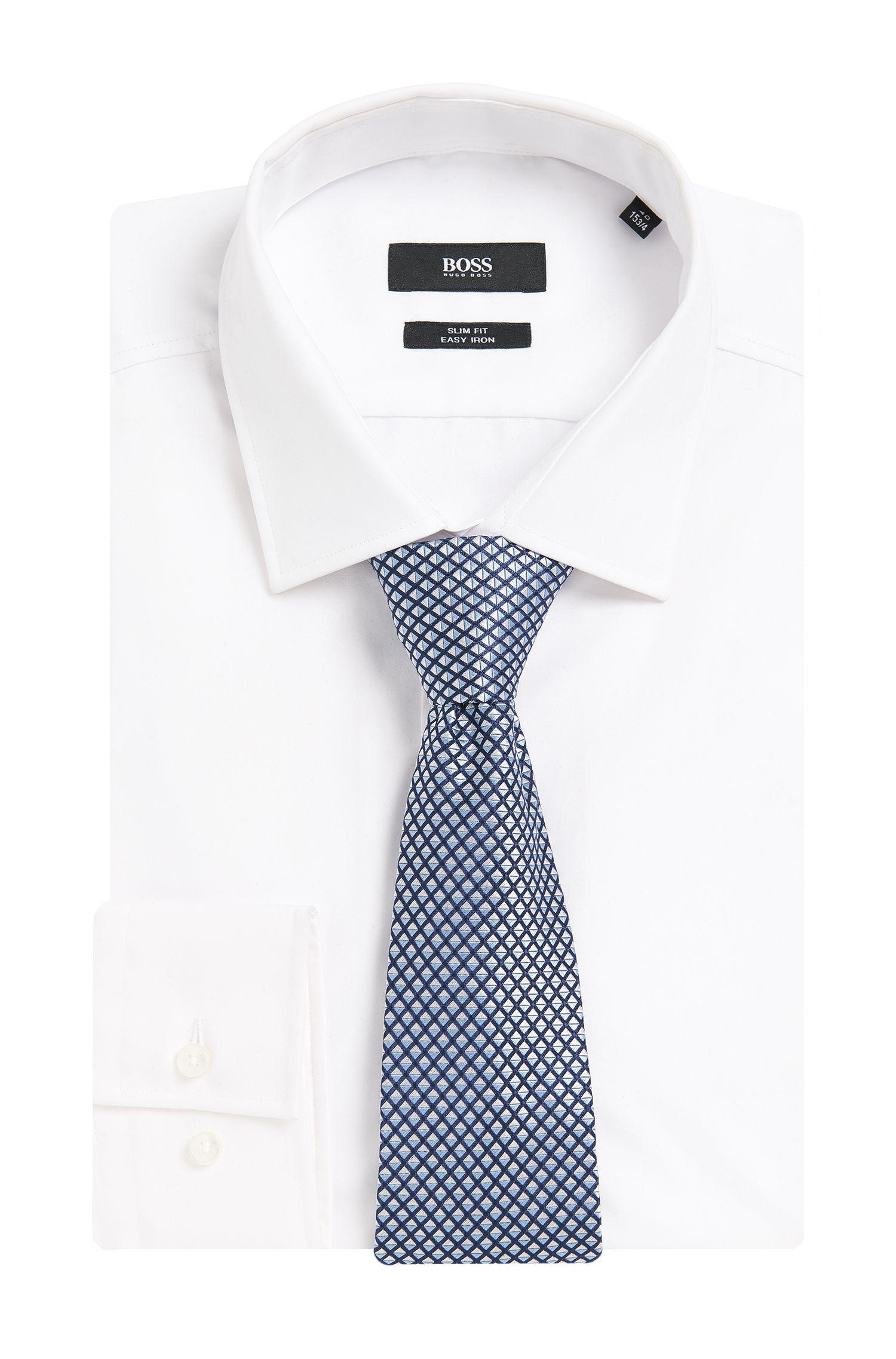 Cravate en soie au motif graphique: «Tie7,5cm»