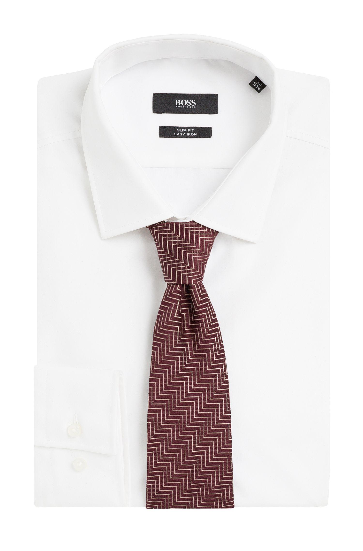 Krawatte aus Seide mit Zickzack-Muster: Tie 7,5 cm