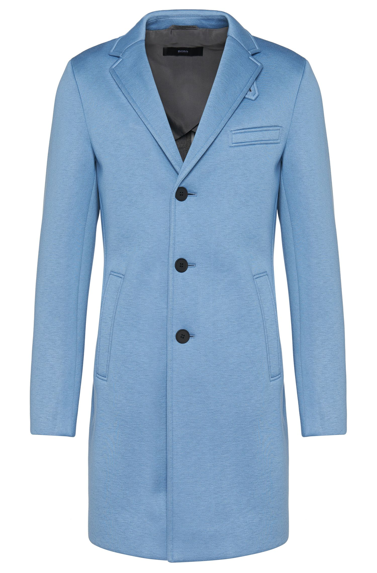 Viscose coat with smooth fabric texture: 'Shawn2'