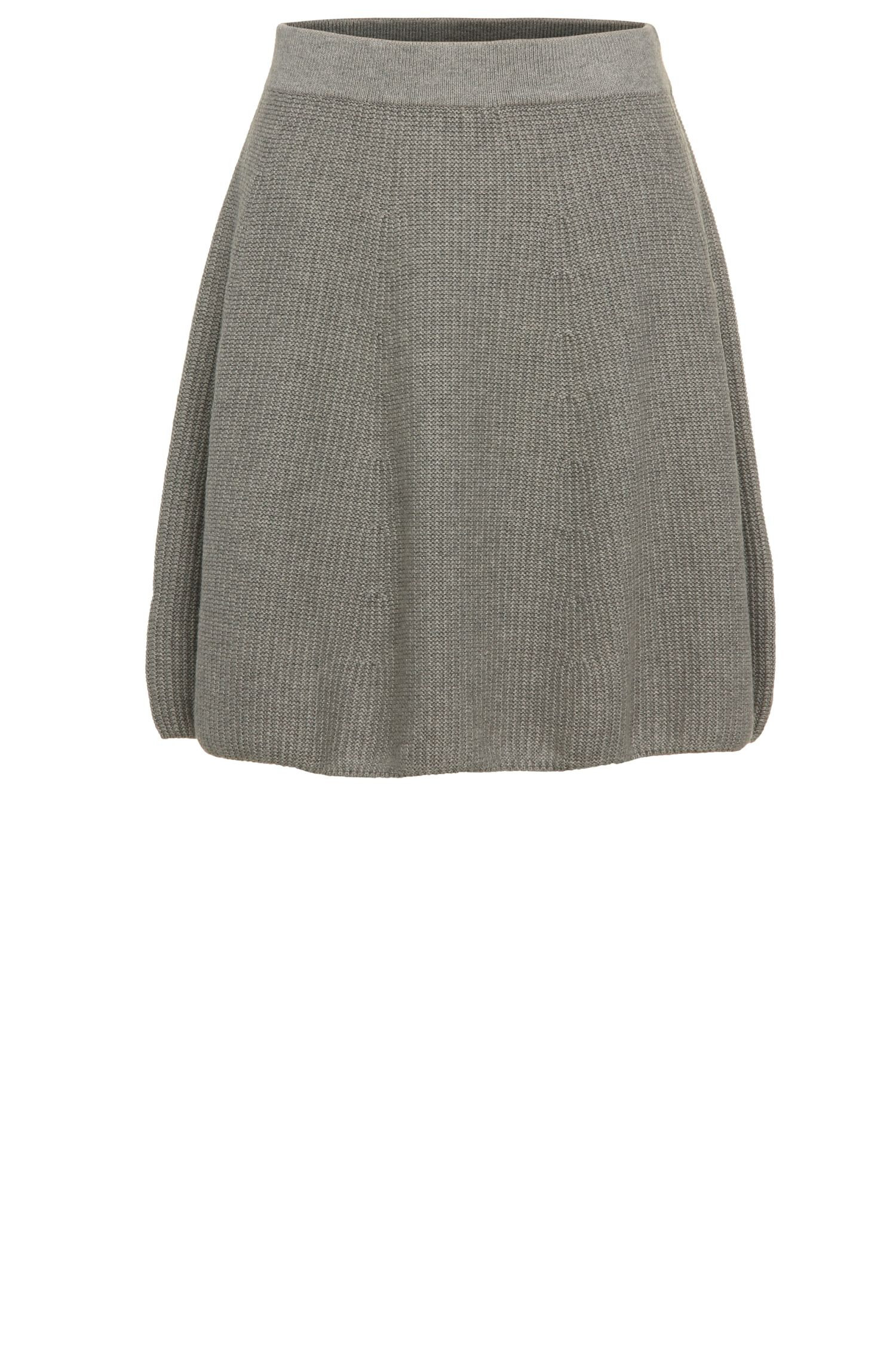 Short knitted skirt in viscose blend with cotton, new wool and silk: 'Ibena'