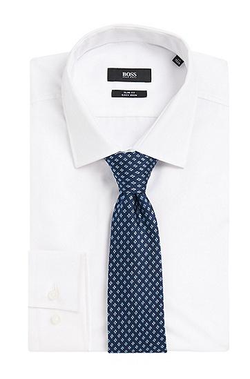 Gemusterte Krawatte aus reiner Seide: 'Tie 7,5 cm', Hellblau